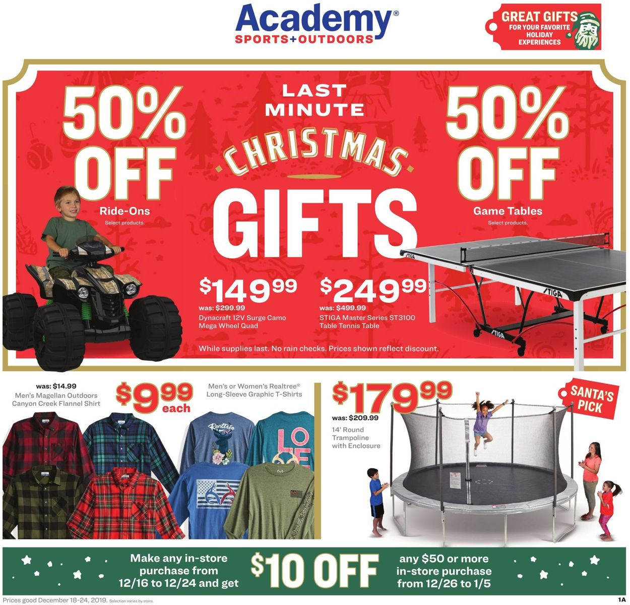 Catalogue Academy Sports - Christmas Ad 2019 from 12/18/2019