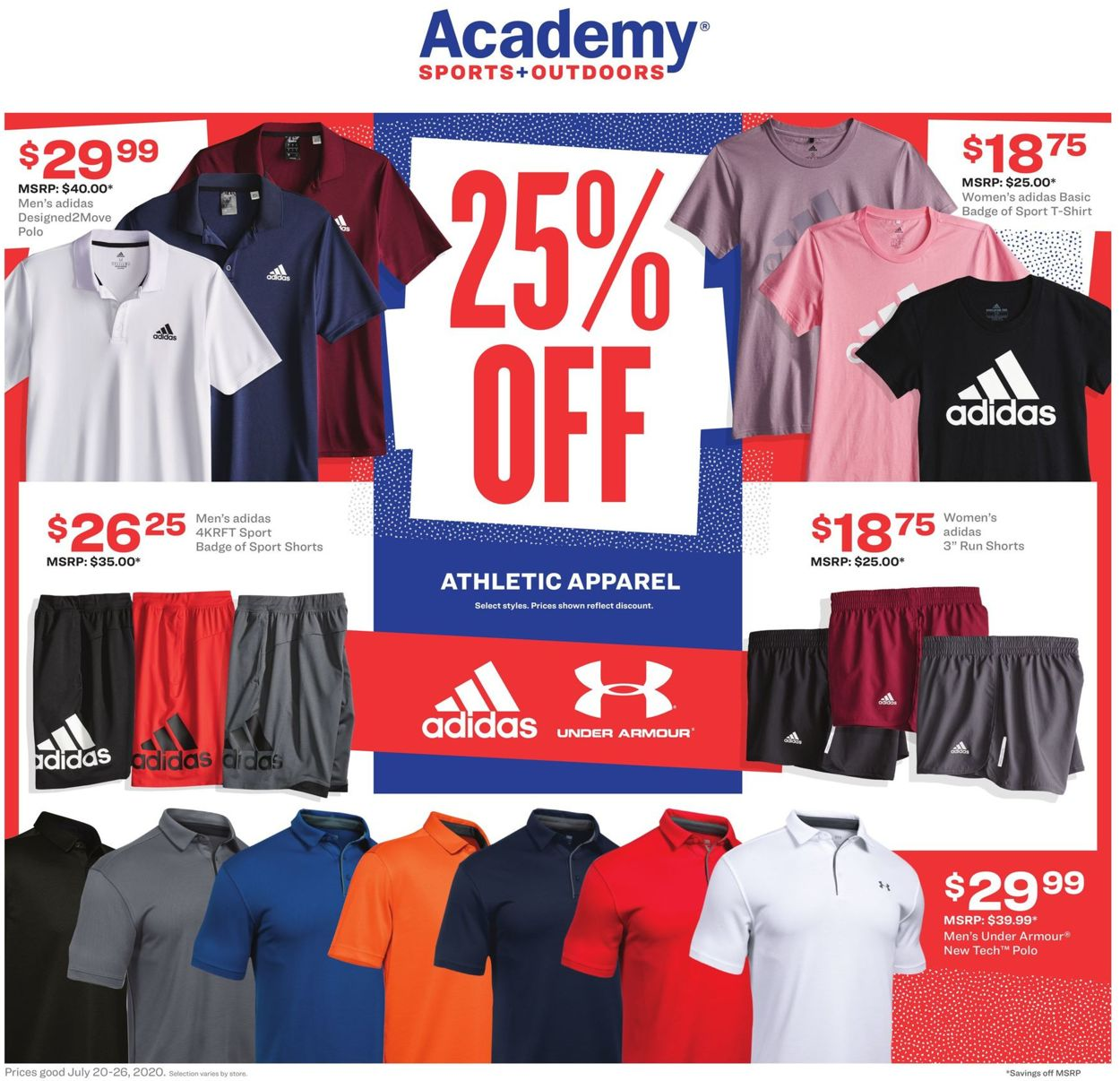 Catalogue Academy Sports from 07/20/2020