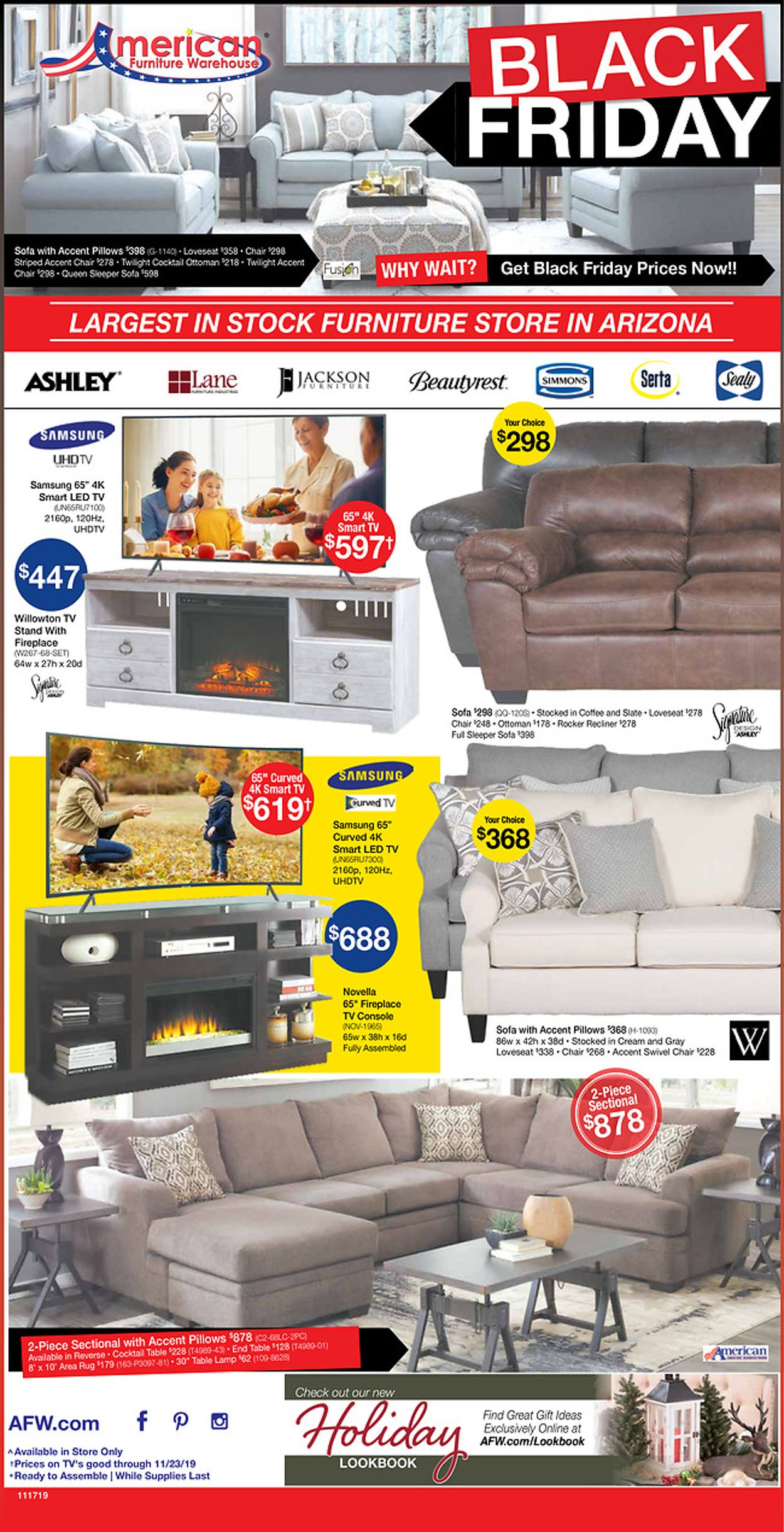 Catalogue American Furniture Warehouse -  Black Friday Ad 2019 from 11/13/2019