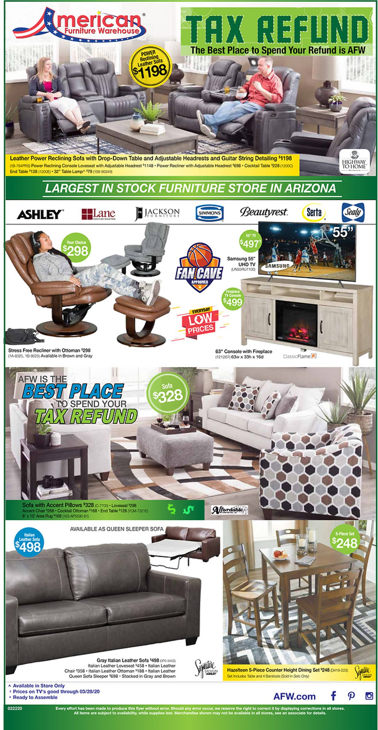 Catalogue American Furniture Warehouse from 03/22/2020