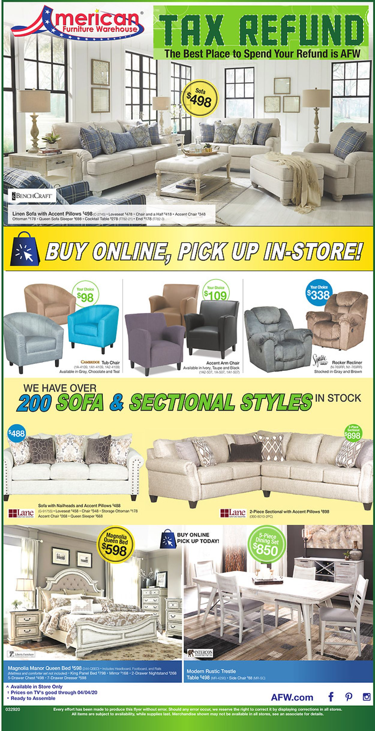 Catalogue American Furniture Warehouse from 04/01/2020