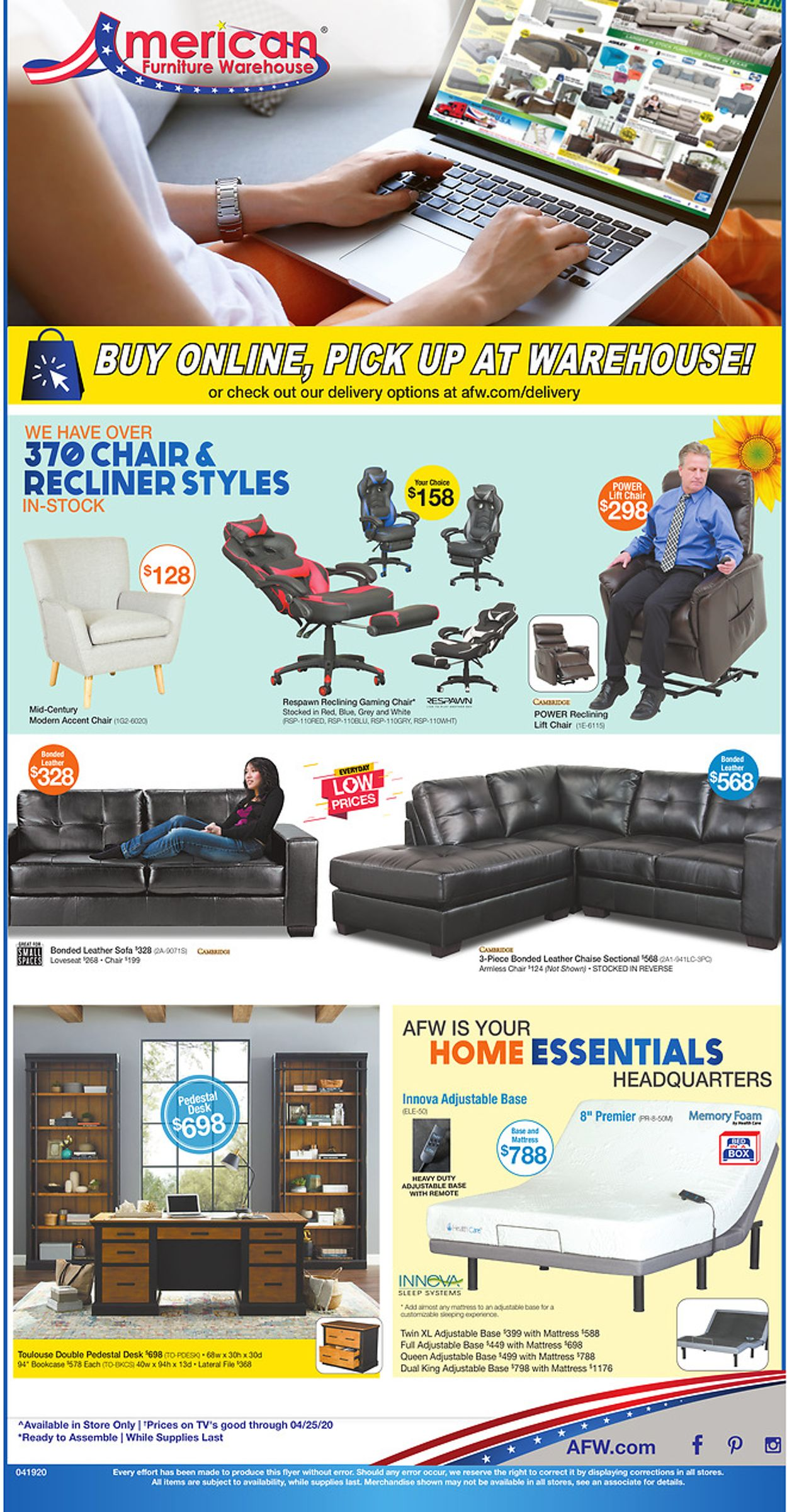 Catalogue American Furniture Warehouse from 04/20/2020