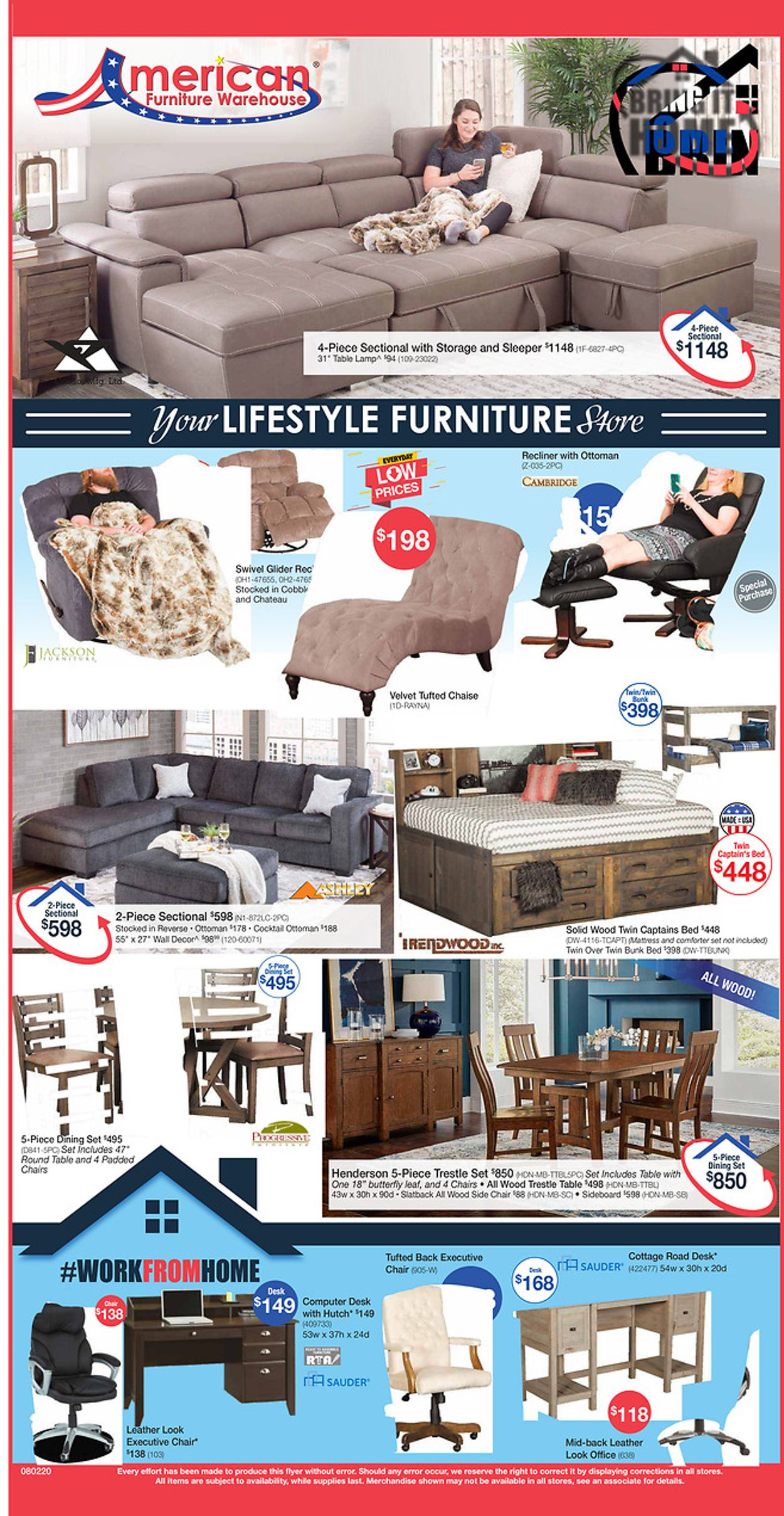 Catalogue American Furniture Warehouse from 08/02/2020