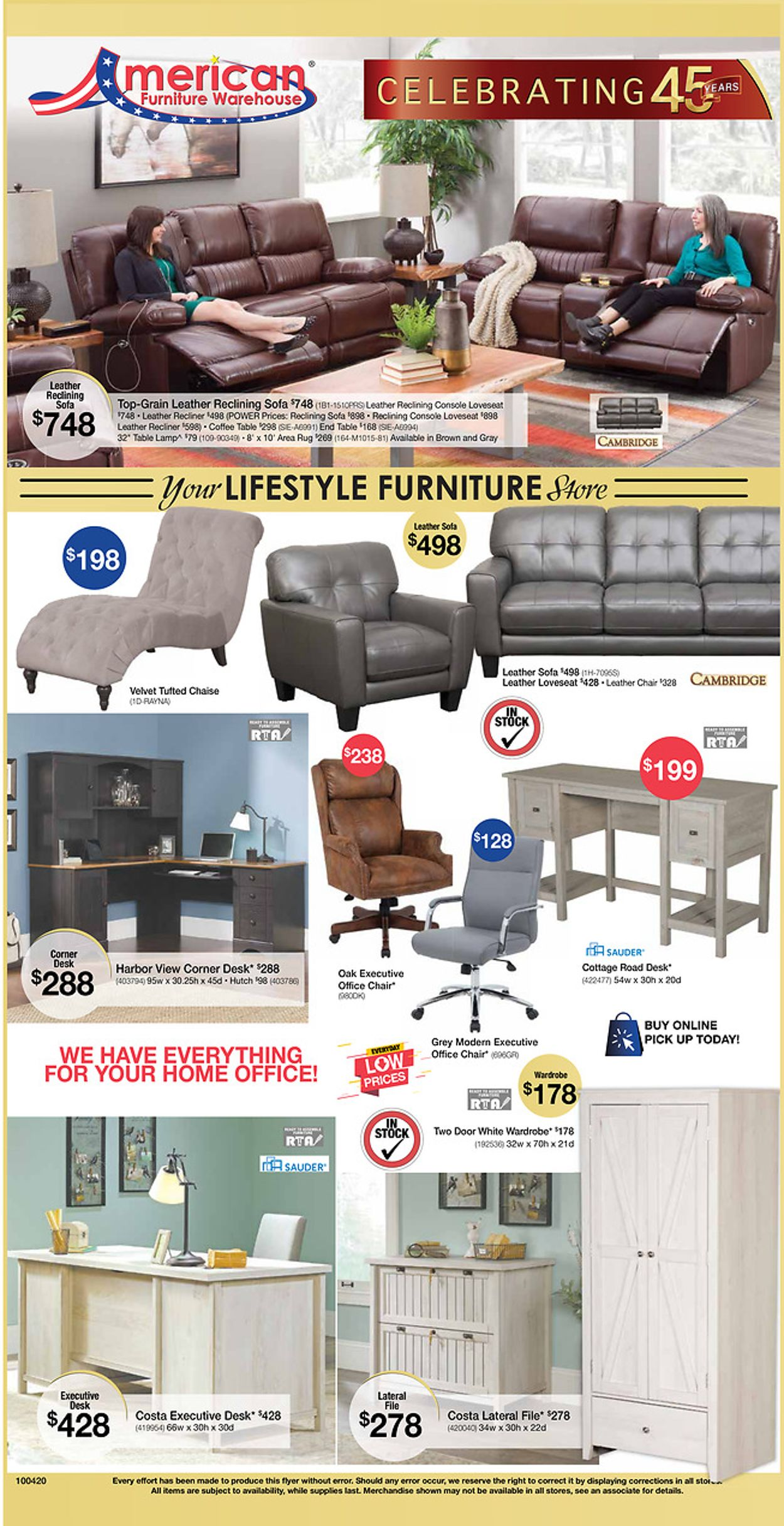 Catalogue American Furniture Warehouse from 10/05/2020