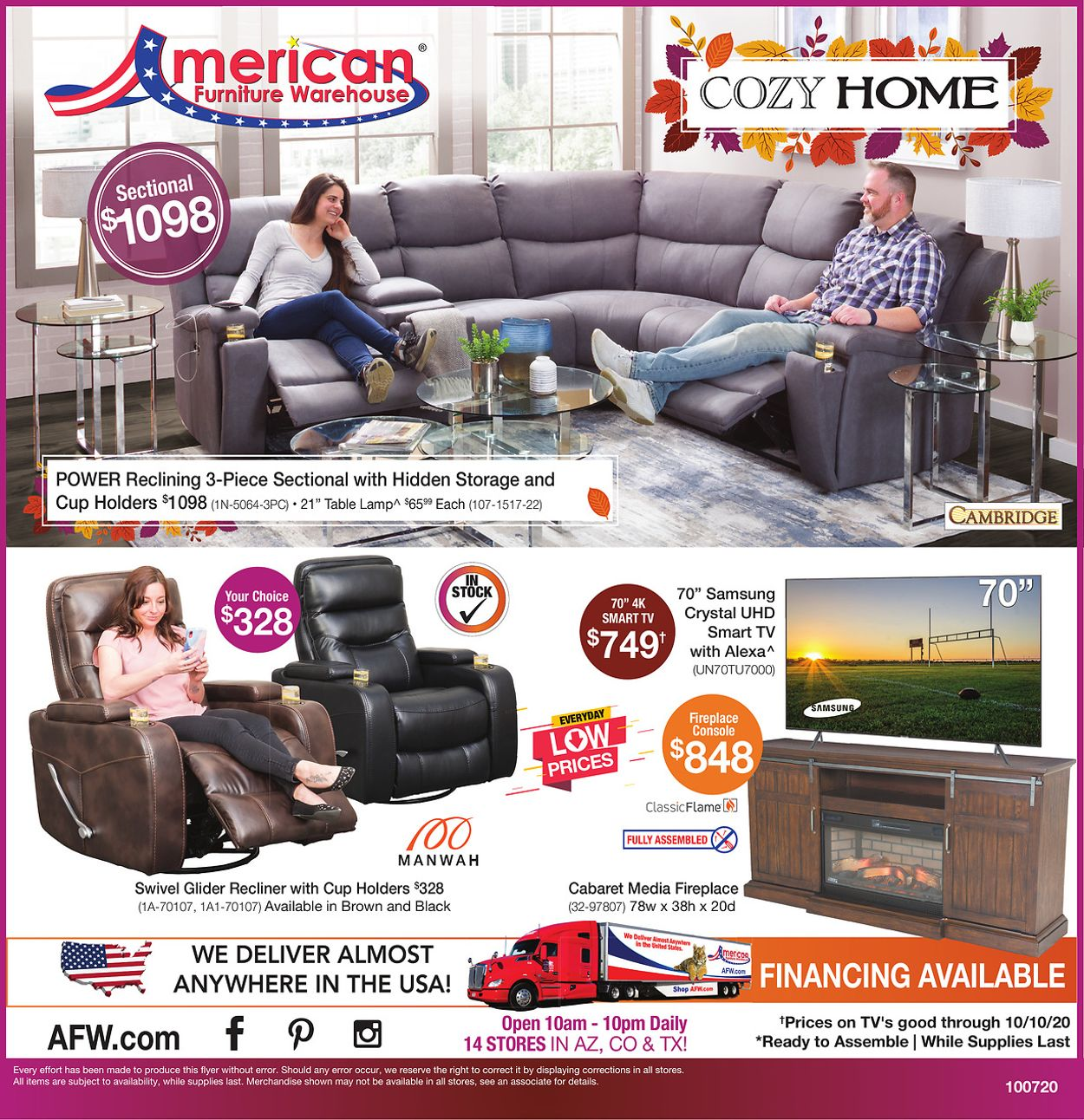Catalogue American Furniture Warehouse from 10/08/2020