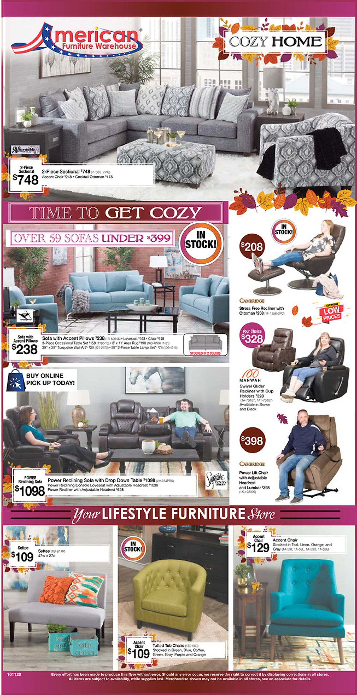 Catalogue American Furniture Warehouse from 10/12/2020