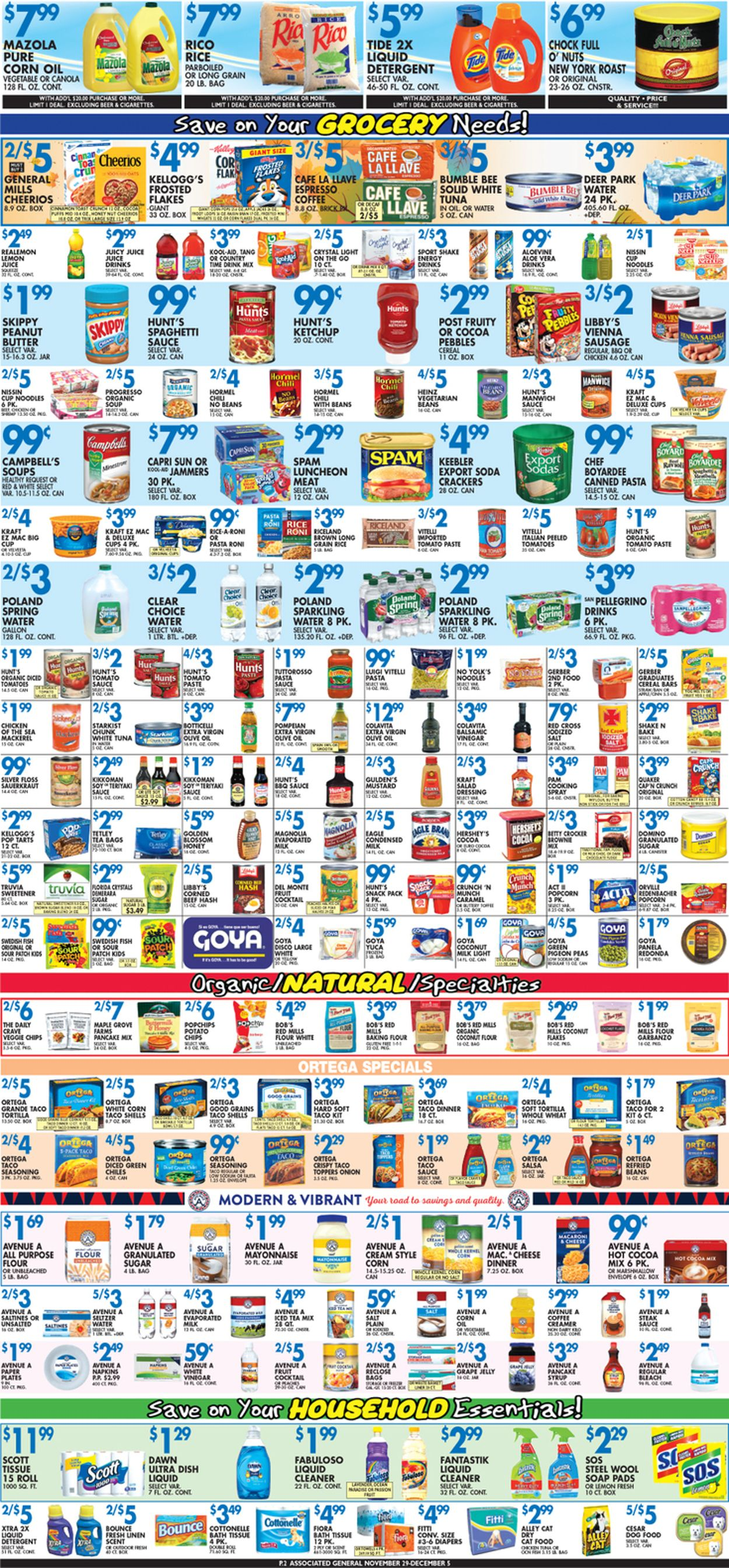 Catalogue Associated Supermarkets from 11/29/2019
