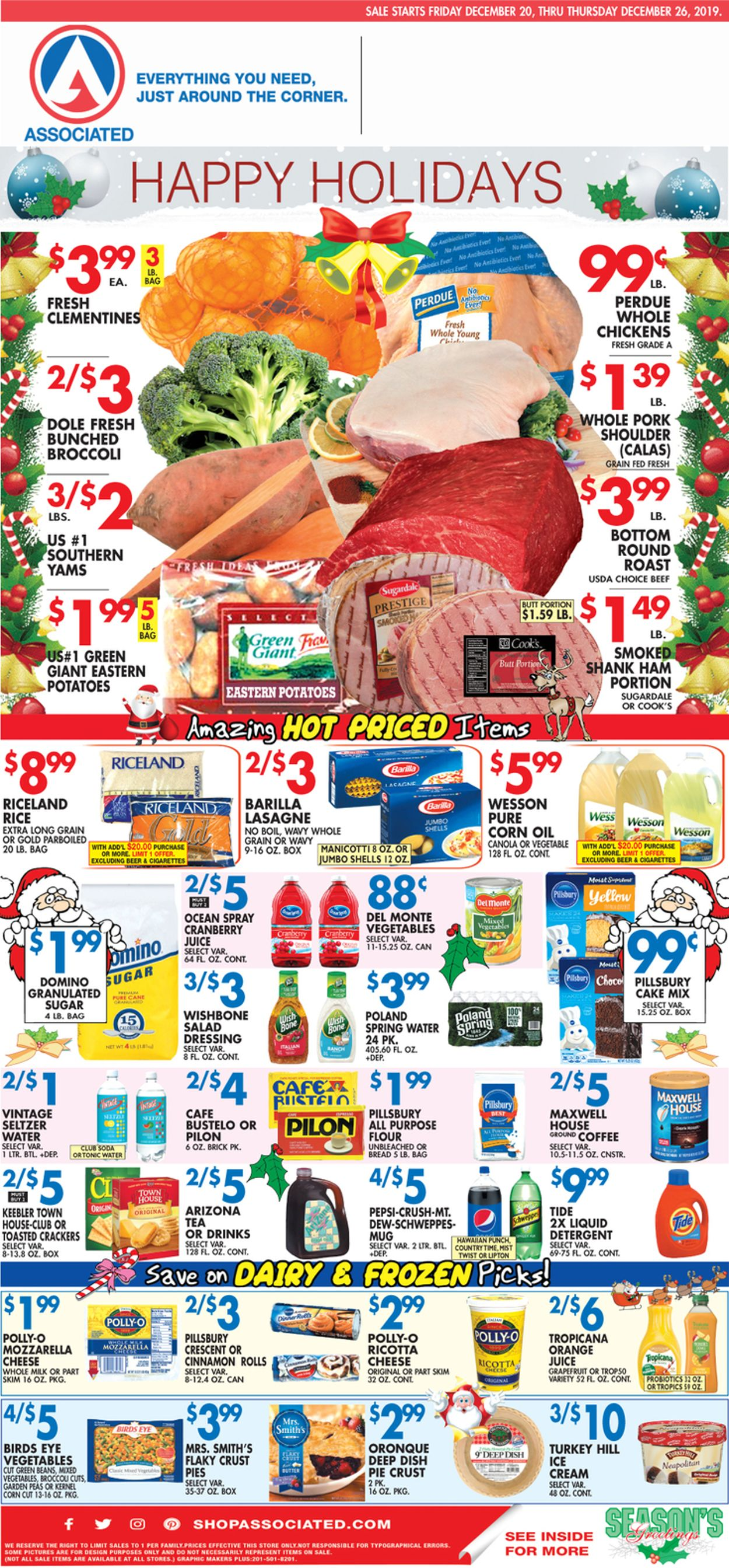 Catalogue Associated Supermarkets - Holidays Ad 2019 from 12/20/2019