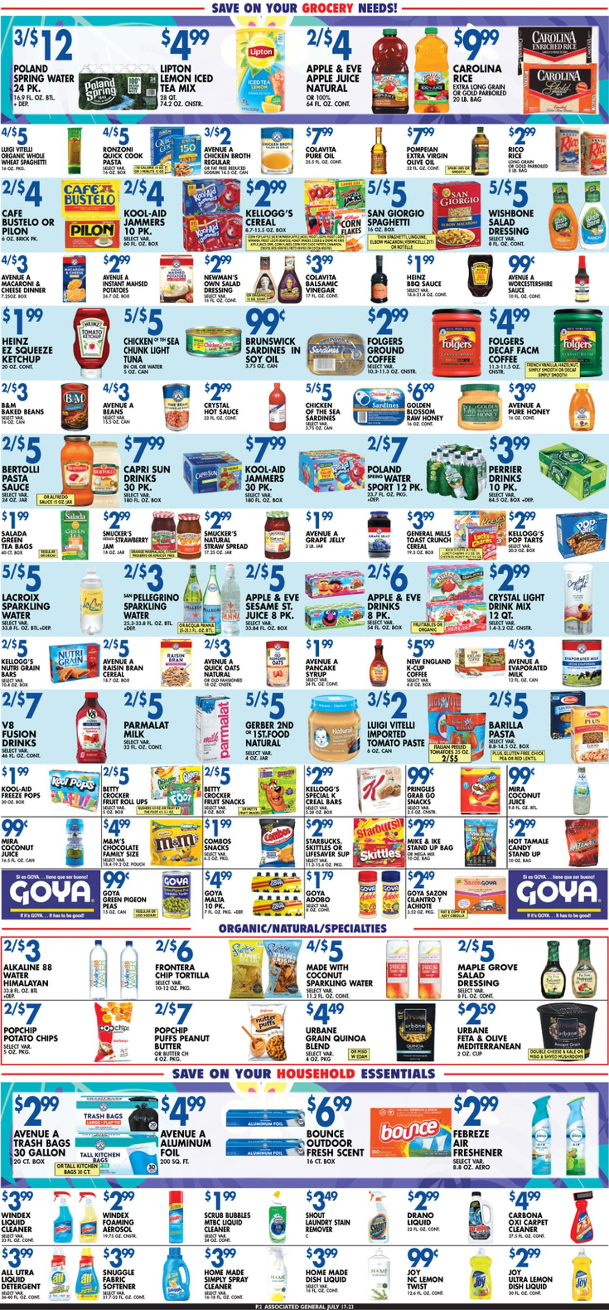 Catalogue Associated Supermarkets from 07/17/2020