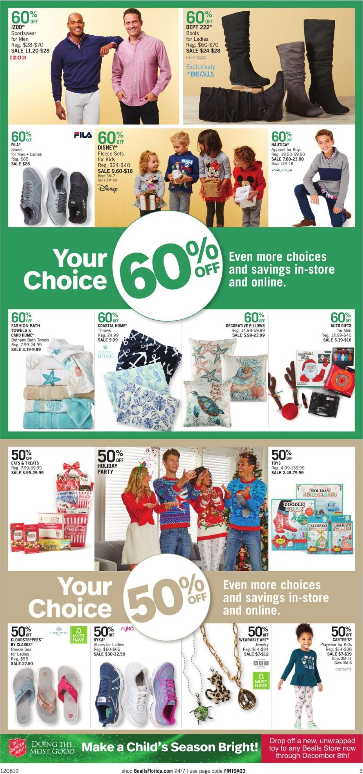 Catalogue Bealls Florida - Holiday Ad 2019 from 12/08/2019