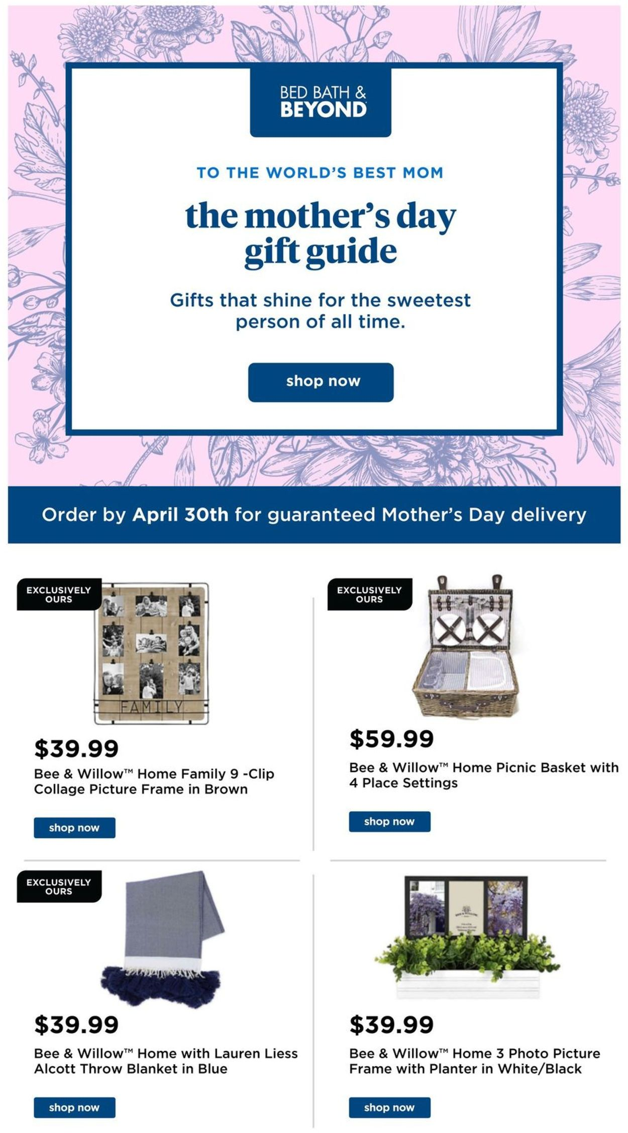 Catalogue Bed Bath and Beyond from 04/24/2020