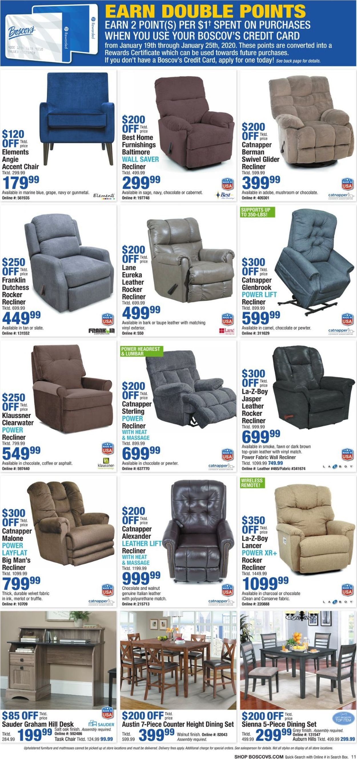 Catalogue Boscov's from 01/17/2020