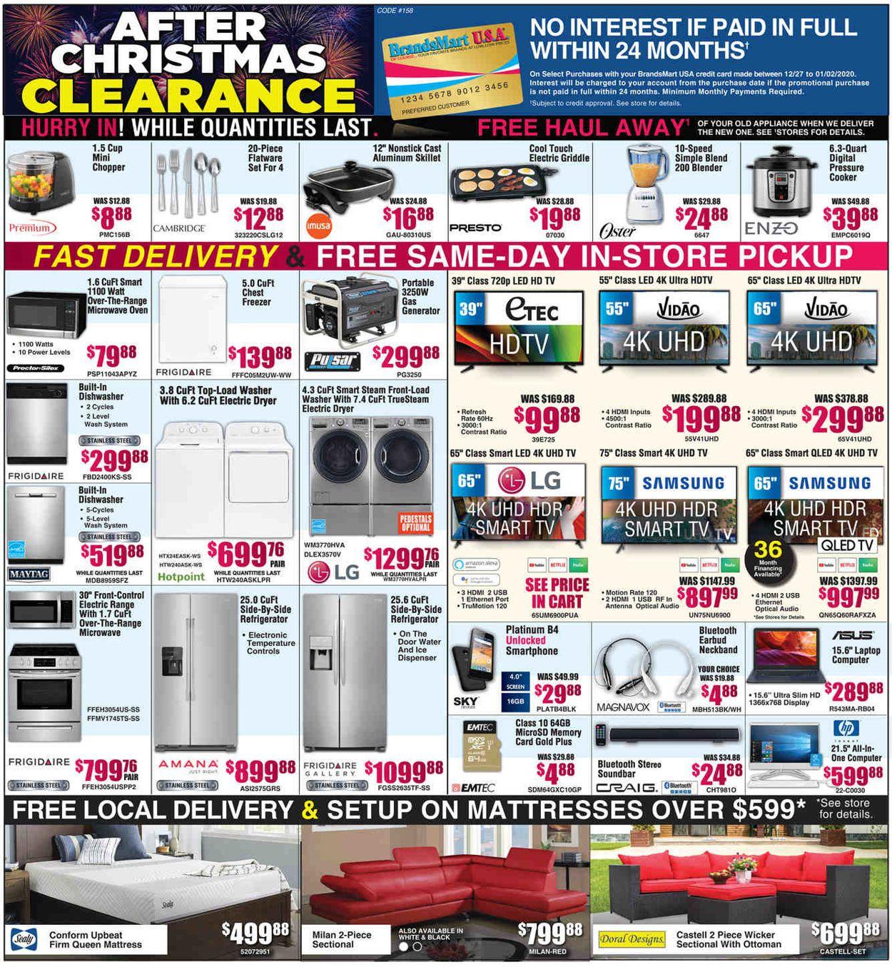 Catalogue Brandsmart USA from 12/27/2019