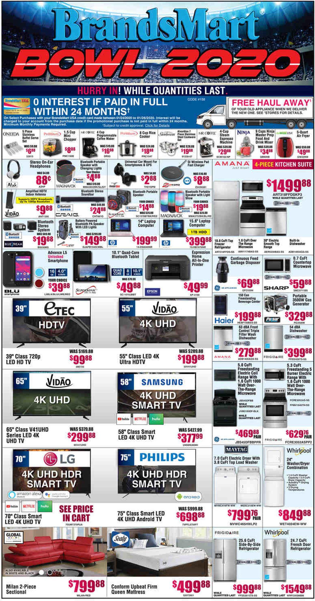 Catalogue Brandsmart USA from 01/24/2020