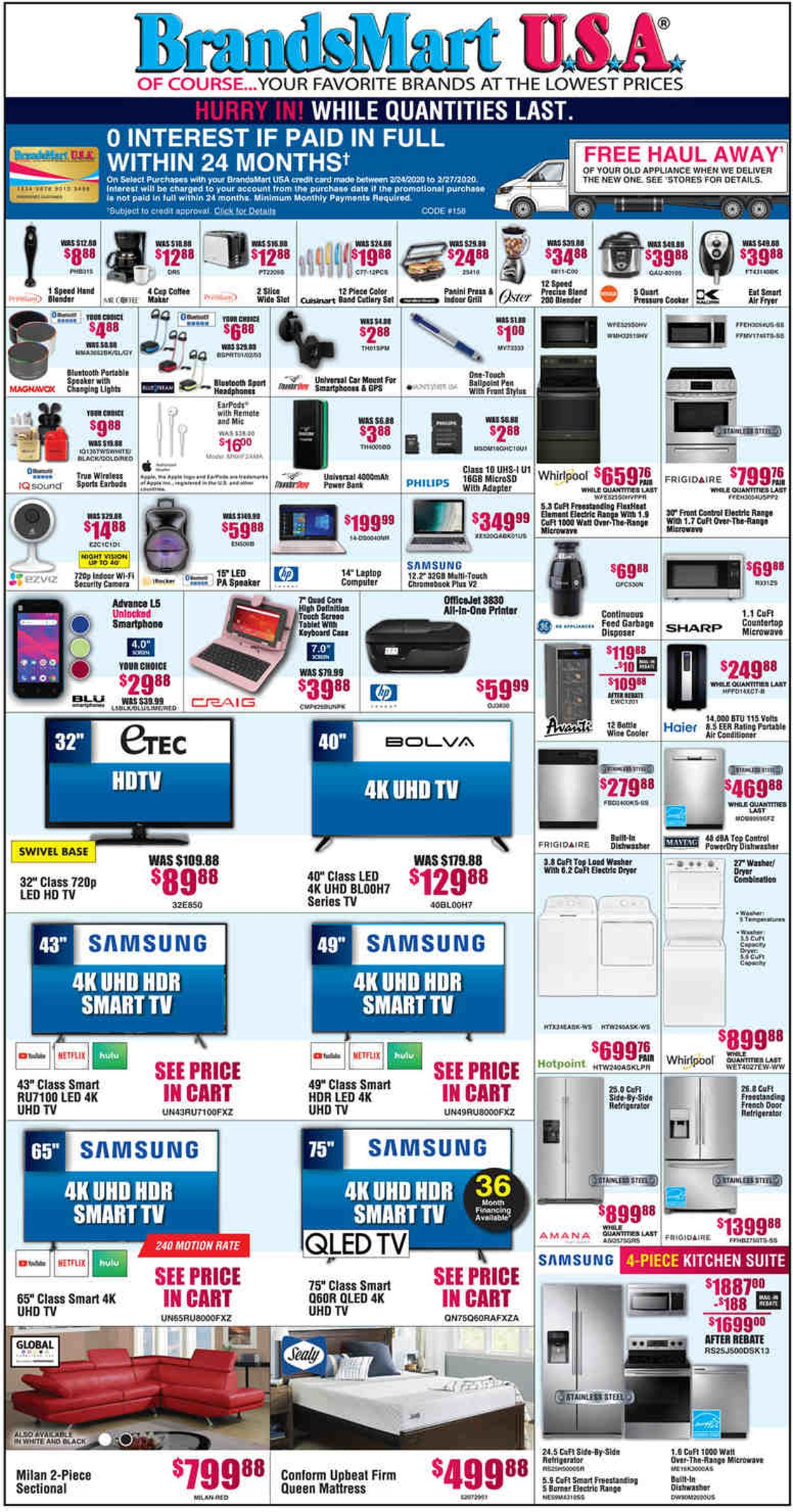 Catalogue Brandsmart USA from 02/24/2020