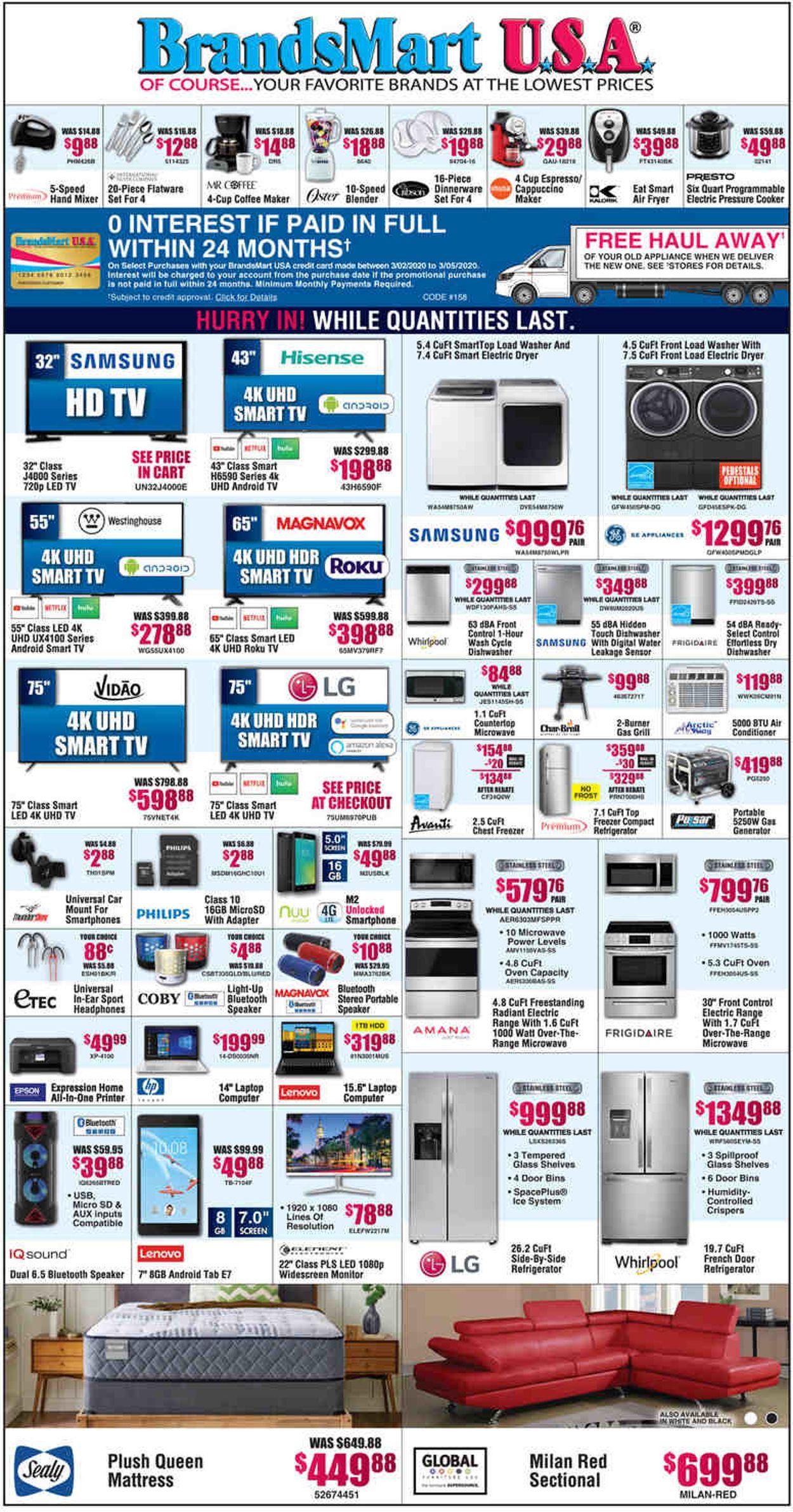 Catalogue Brandsmart USA from 03/02/2020
