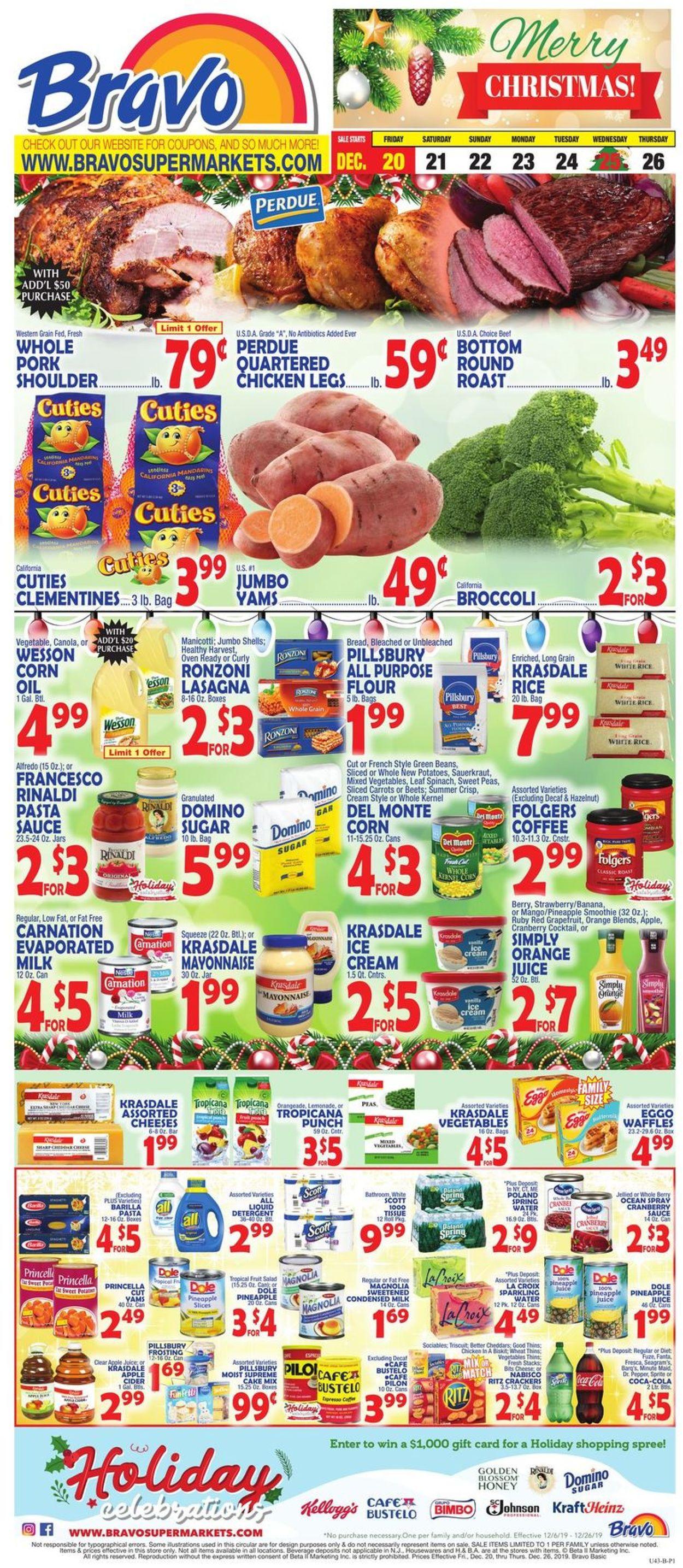 Catalogue Bravo Supermarkets - Christmas Ad 2019 from 12/20/2019