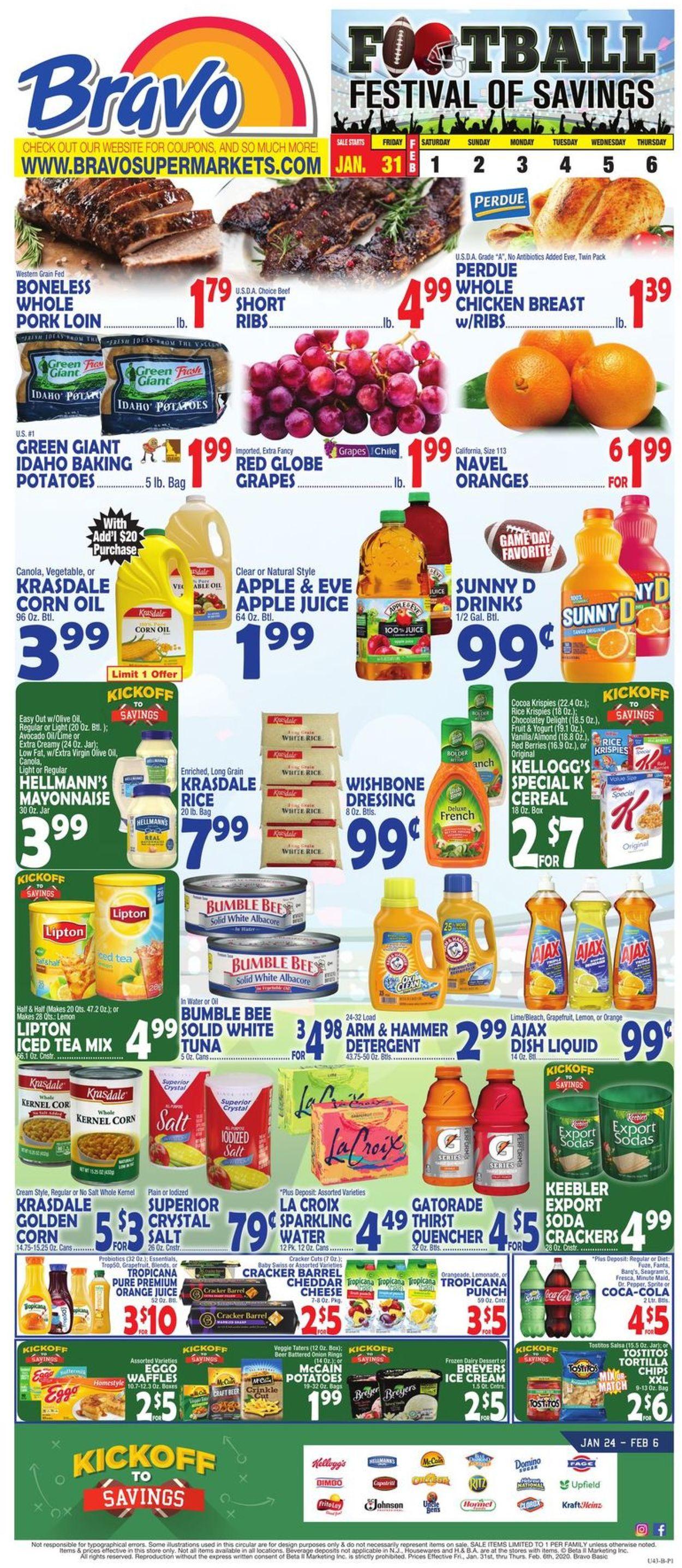 Catalogue Bravo Supermarkets from 01/31/2020