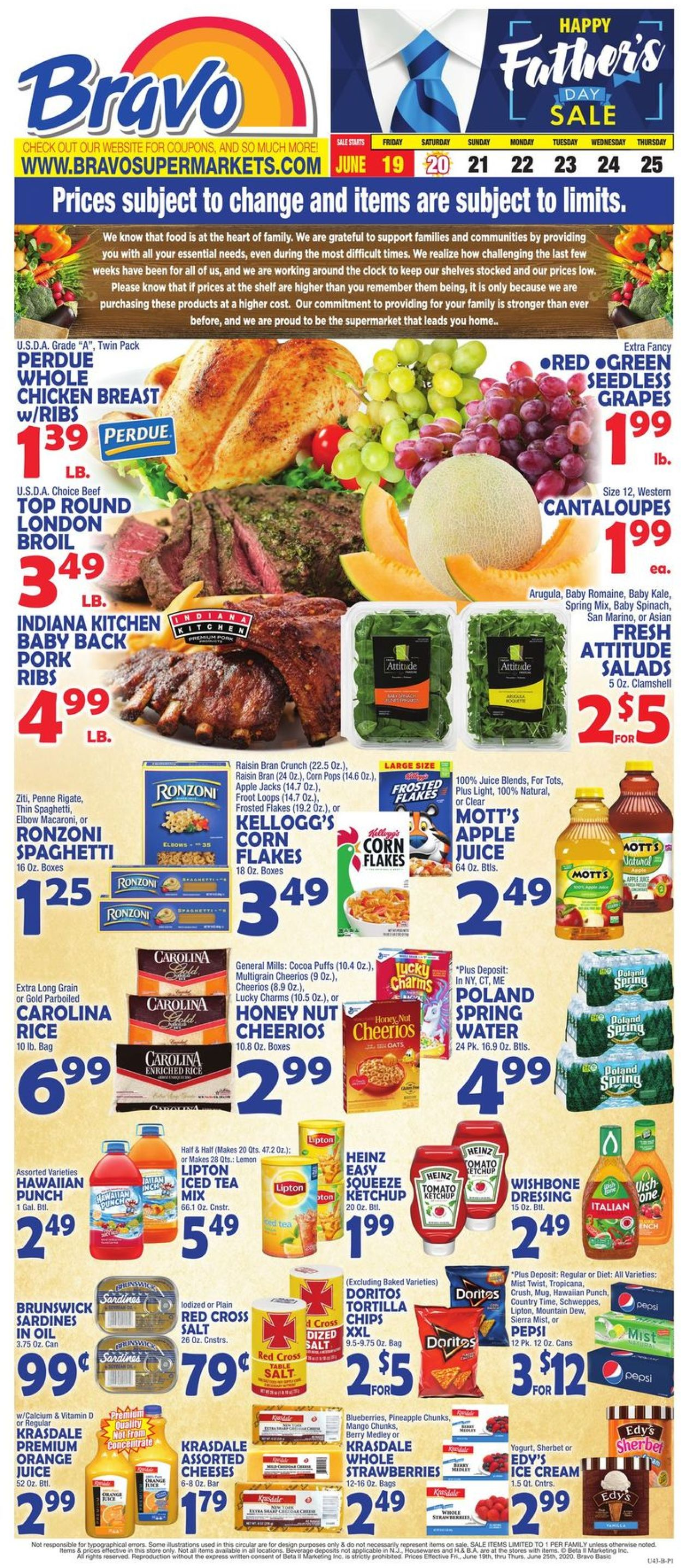 Catalogue Bravo Supermarkets from 06/19/2020