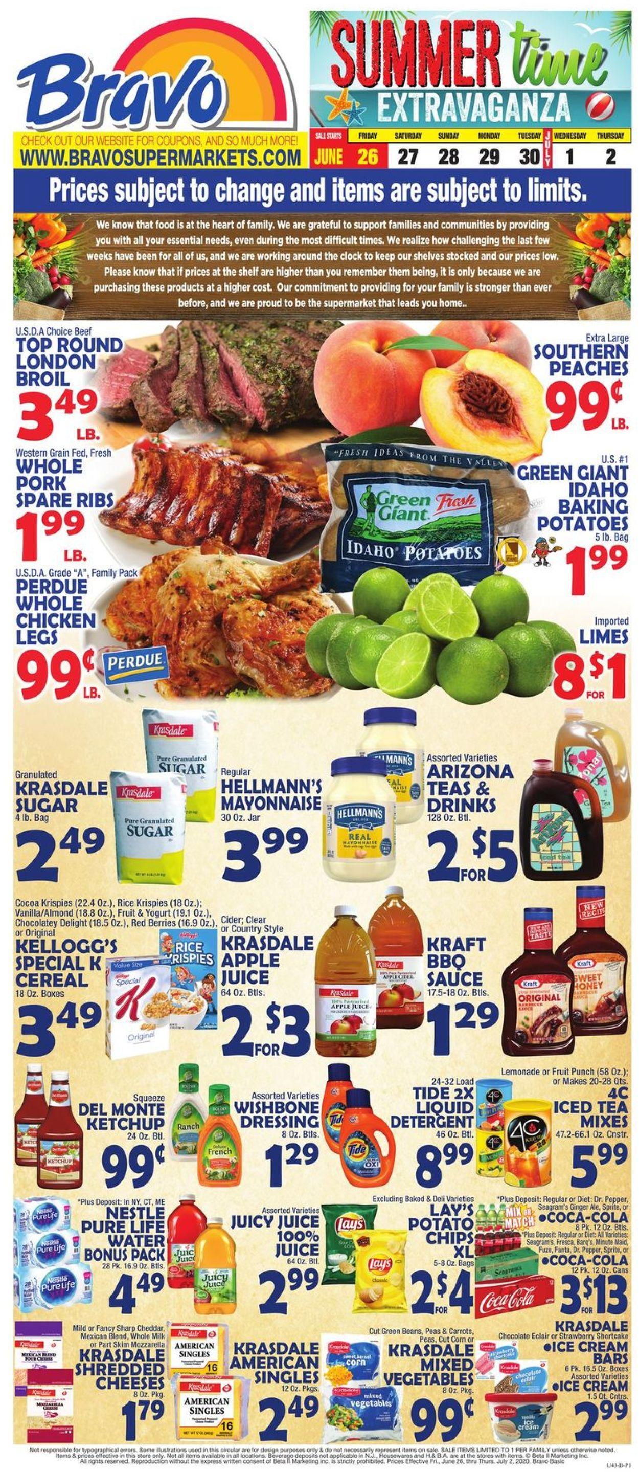 Catalogue Bravo Supermarkets from 06/26/2020