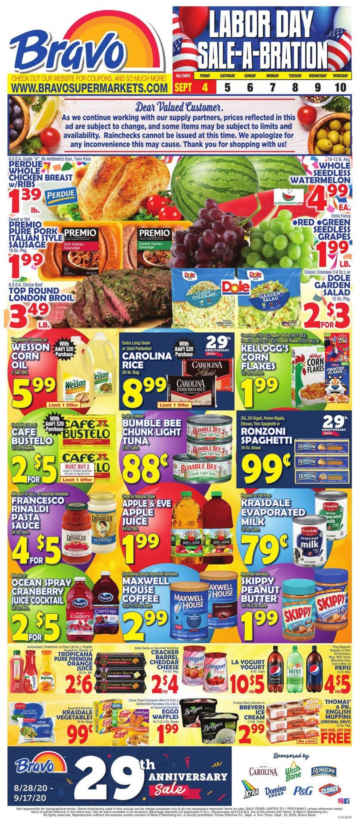 Catalogue Bravo Supermarkets from 09/04/2020