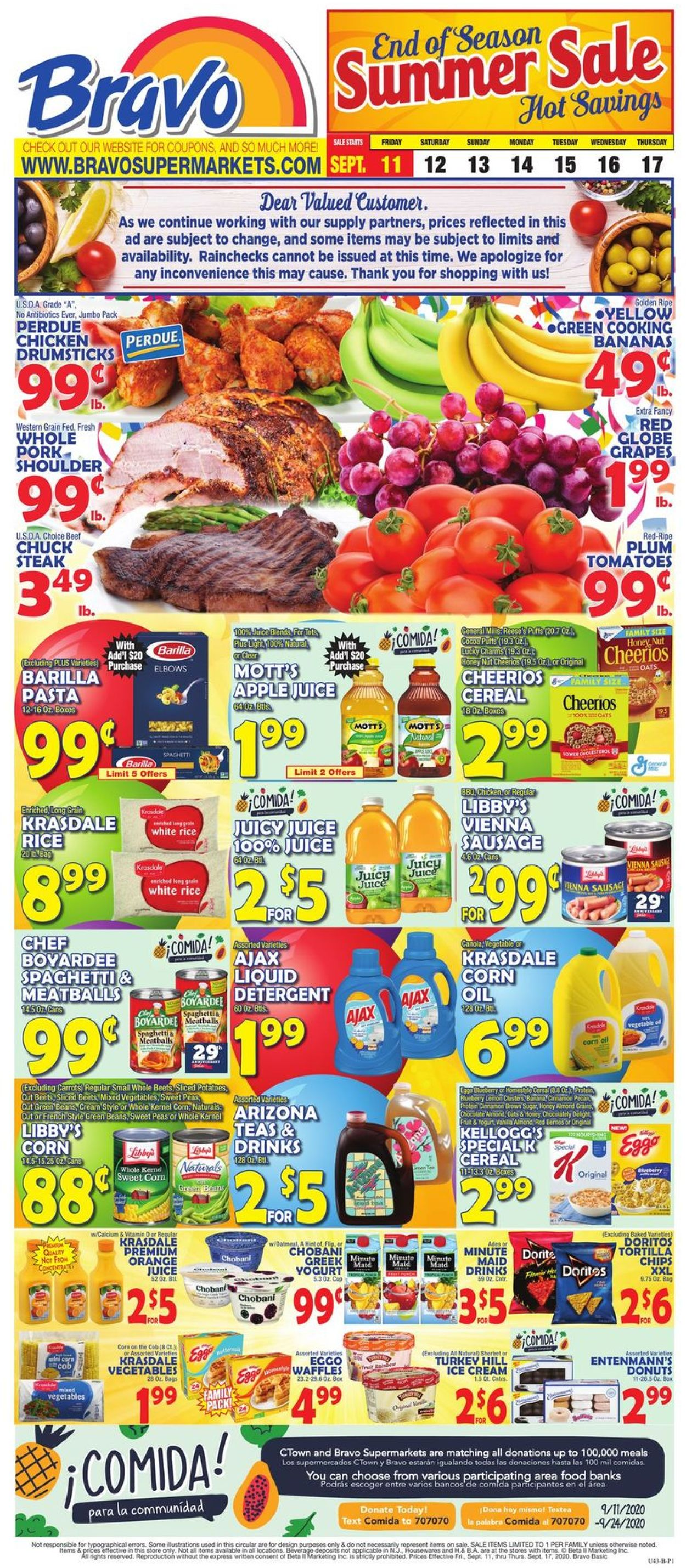 Catalogue Bravo Supermarkets from 09/11/2020