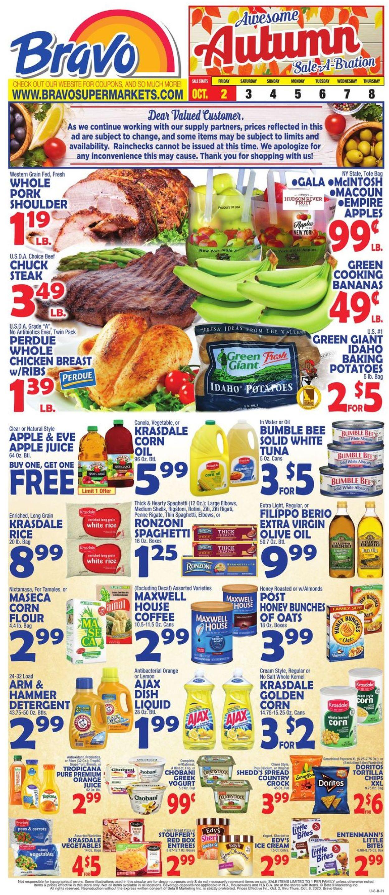 Catalogue Bravo Supermarkets from 10/02/2020