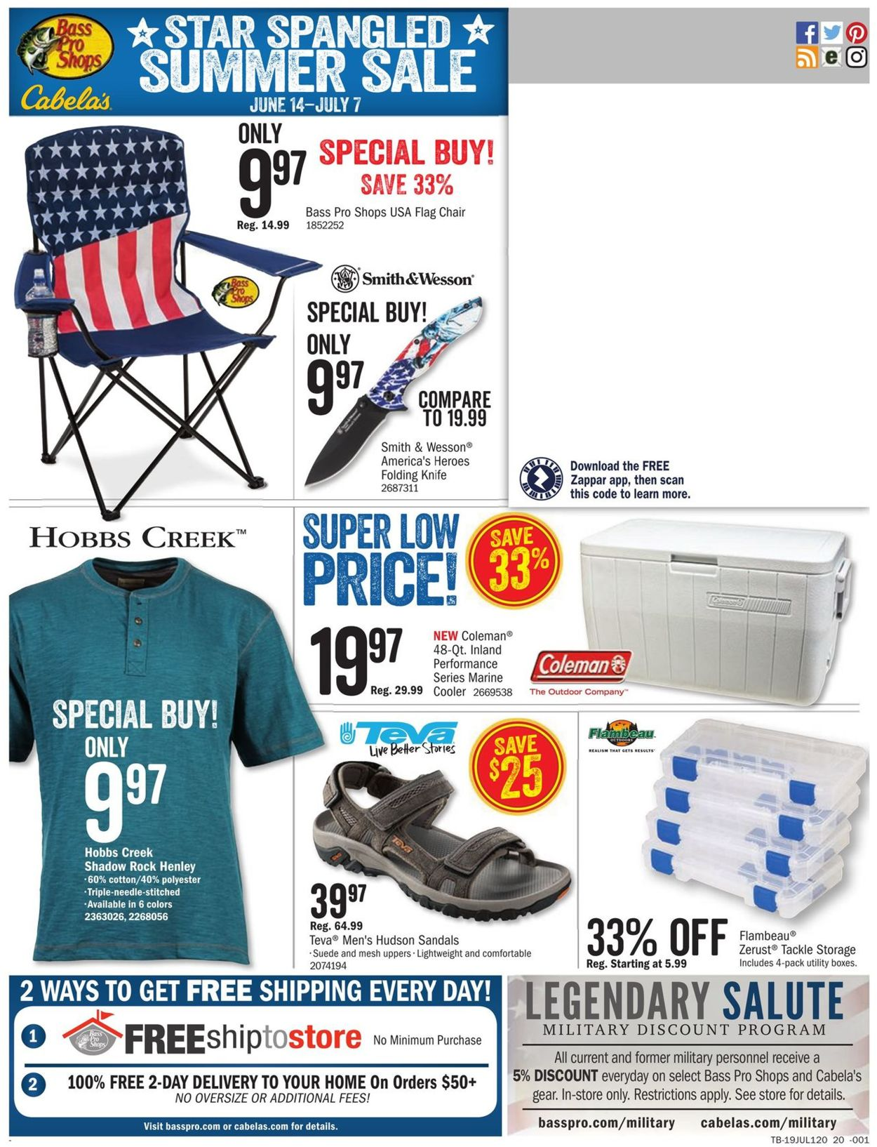 Catalogue Cabela's from 06/14/2019