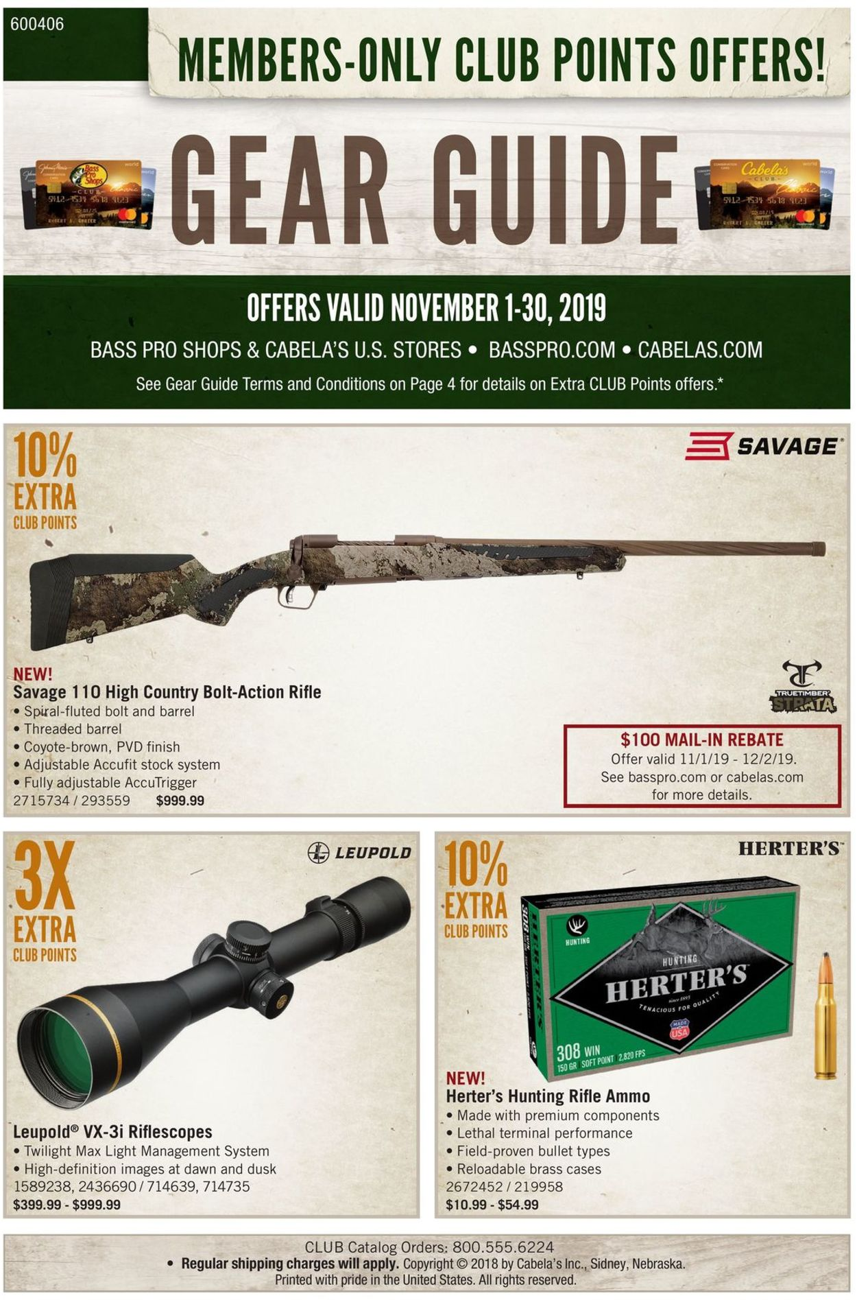 Catalogue Cabela's from 11/01/2019