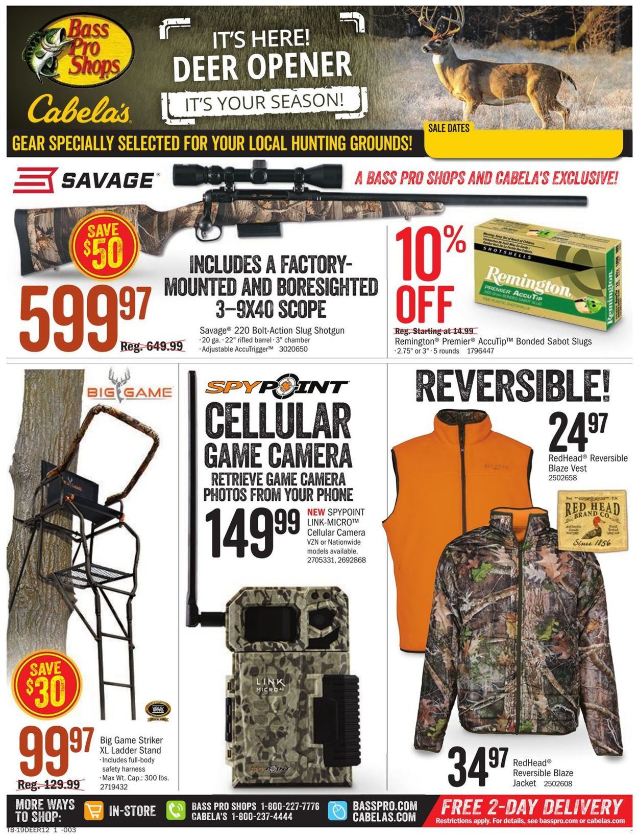 Catalogue Cabela's from 11/07/2019
