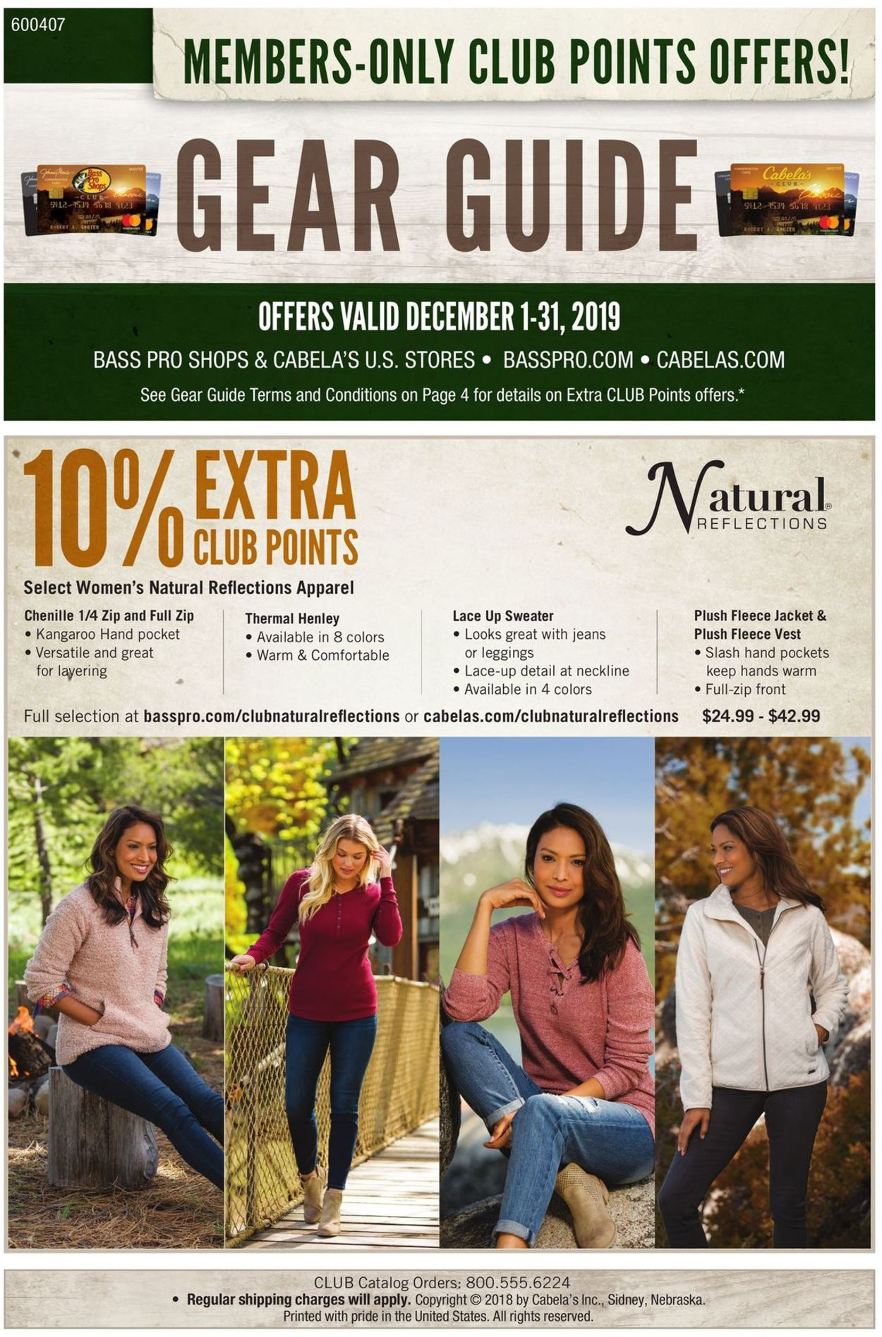 Catalogue Cabela's from 12/01/2019