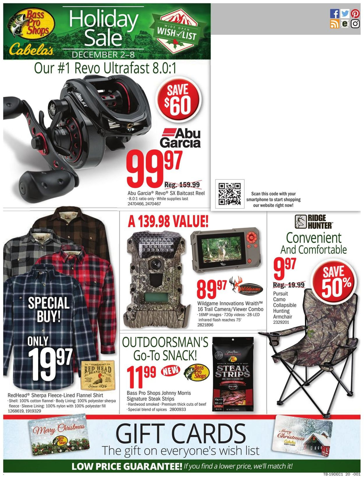 Catalogue Cabela's - Holiday Sale 2019 from 12/02/2019