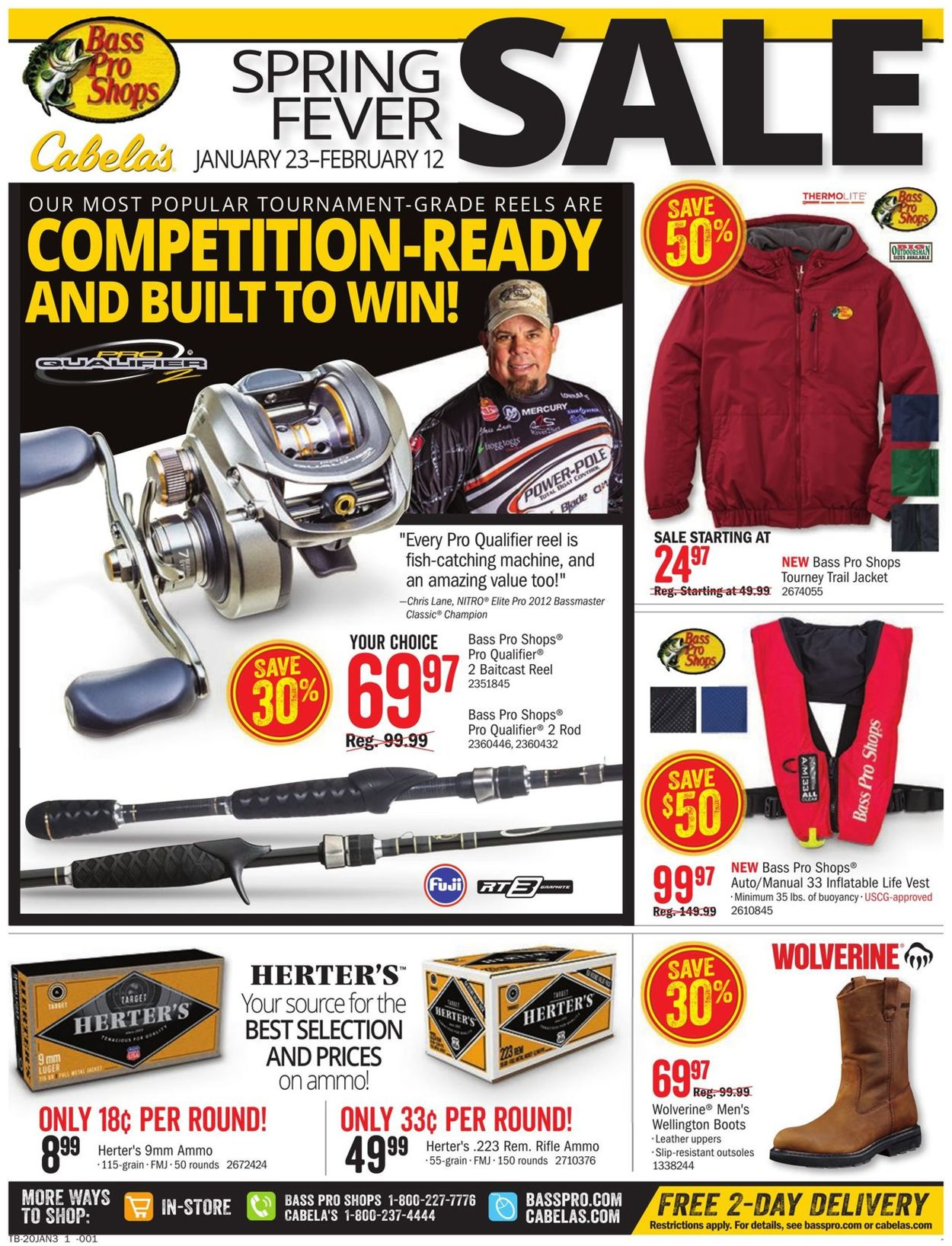 Catalogue Cabela's from 01/23/2020