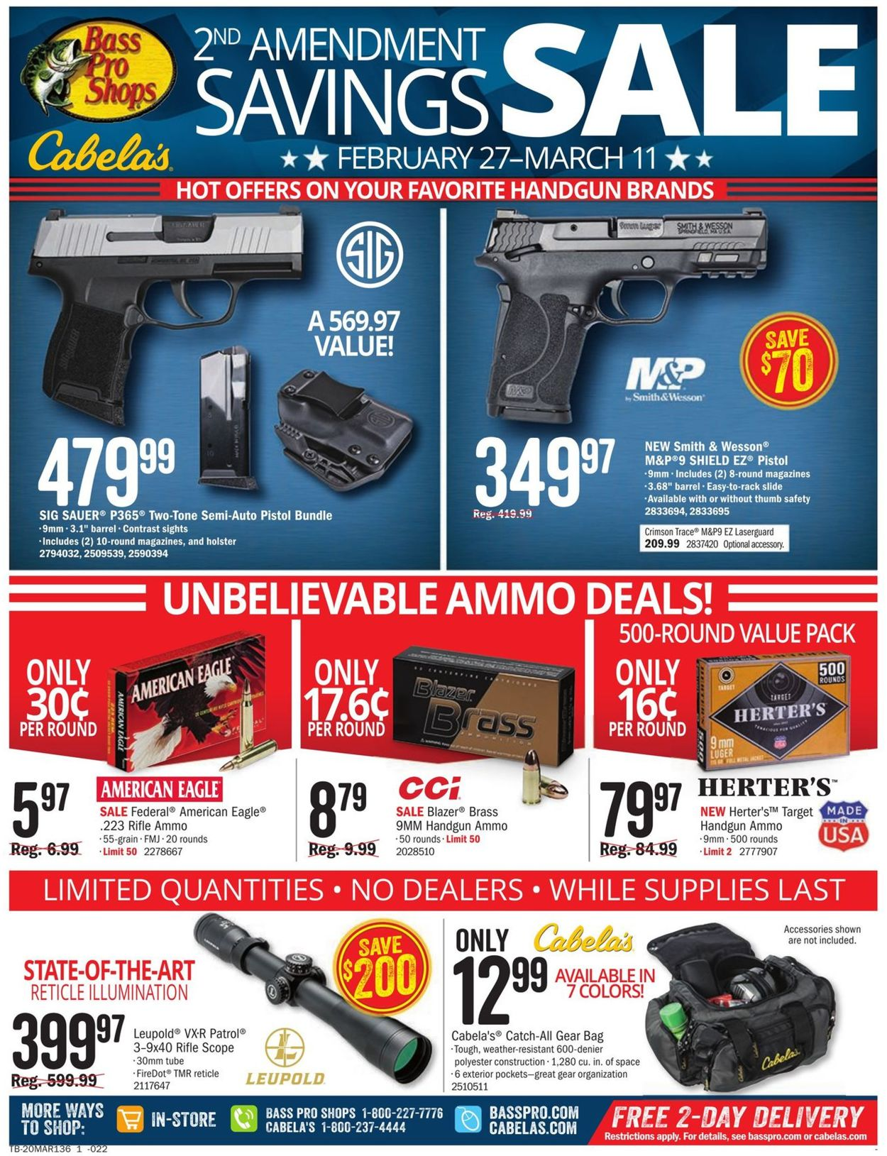 Catalogue Cabela's from 02/27/2020