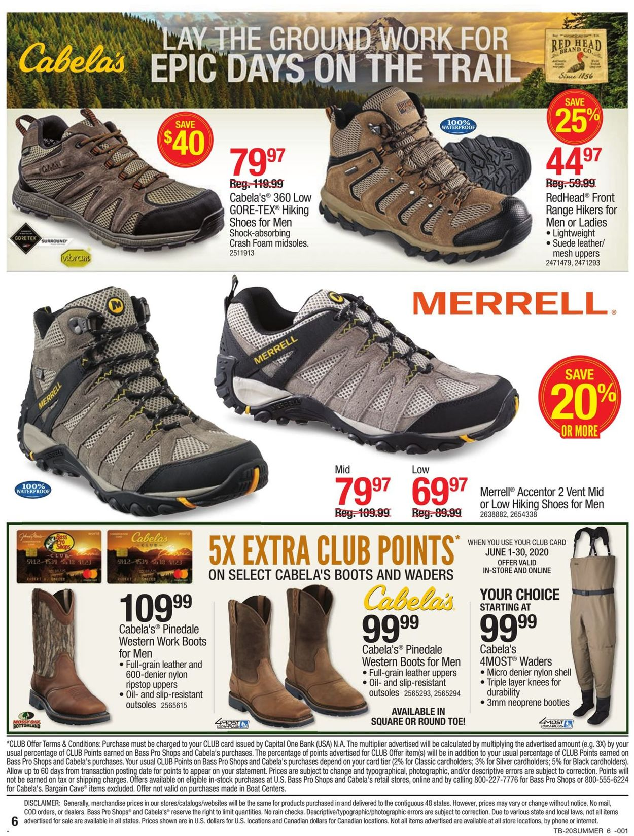 Catalogue Cabela's from 05/28/2020
