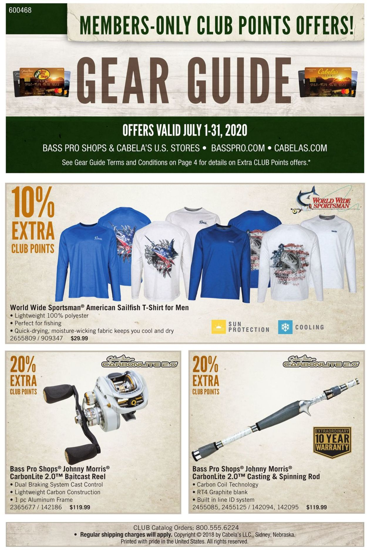 Catalogue Cabela's from 07/01/2020