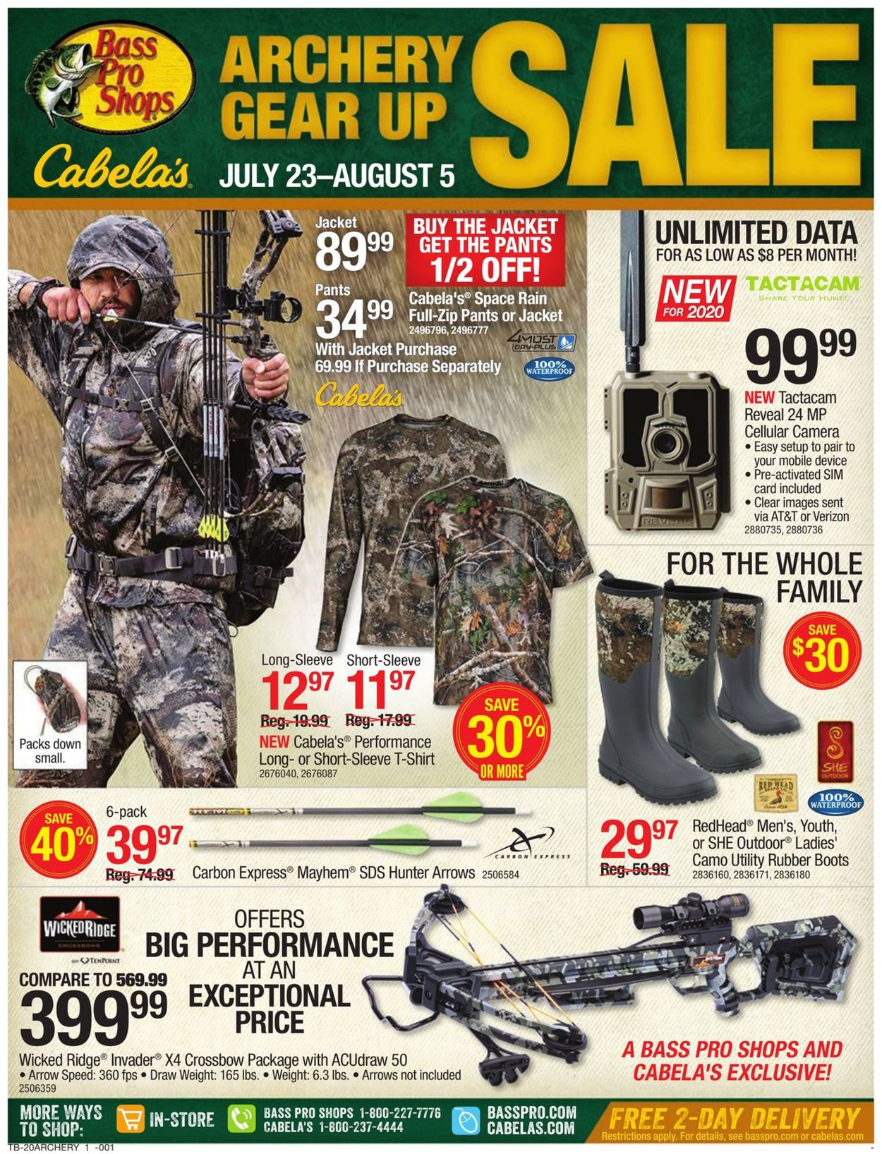 Catalogue Cabela's from 07/23/2020