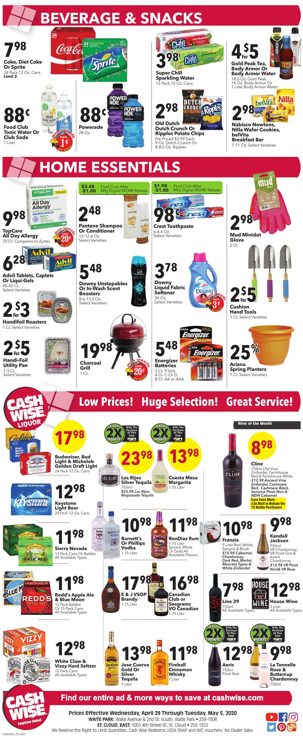 Catalogue Cash Wise from 04/29/2020