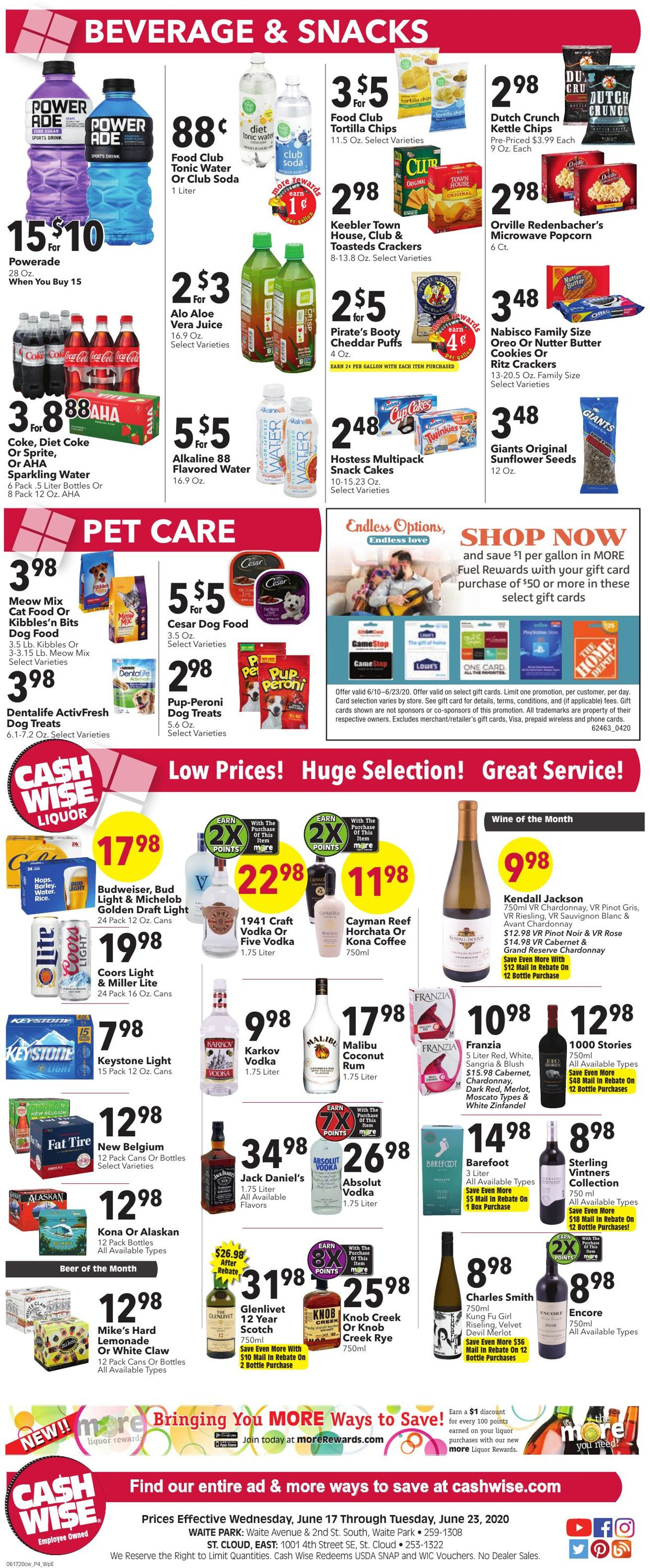 Catalogue Cash Wise from 06/17/2020