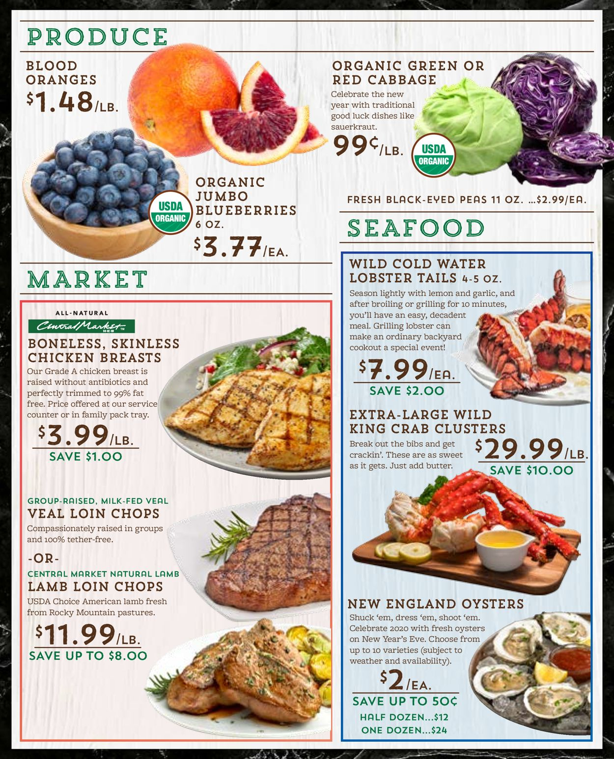 Catalogue Central Market - New Year's Ad 2019/2020 from 12/26/2019