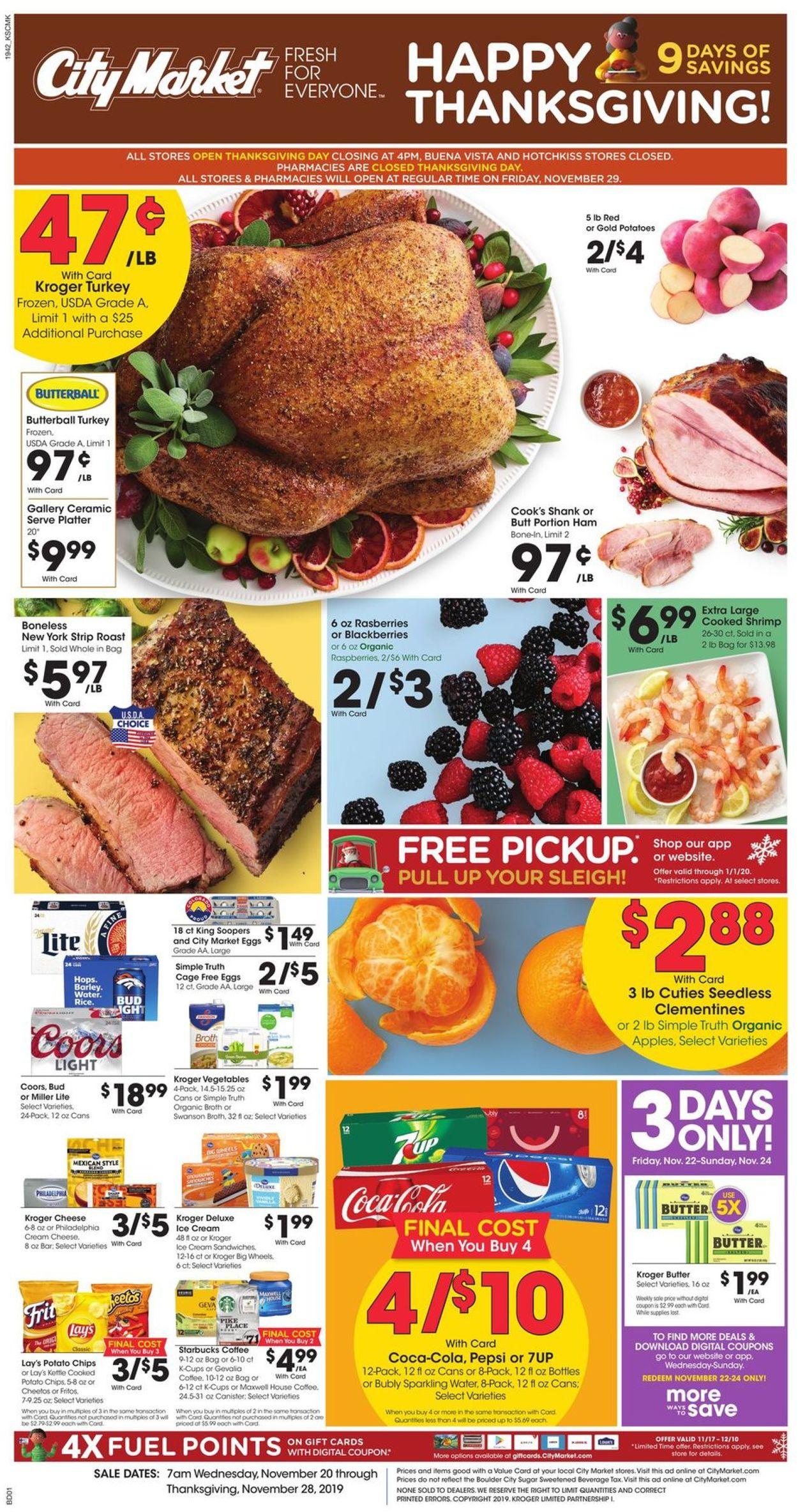 Catalogue City Market - Holiday Ad 2019 from 11/20/2019