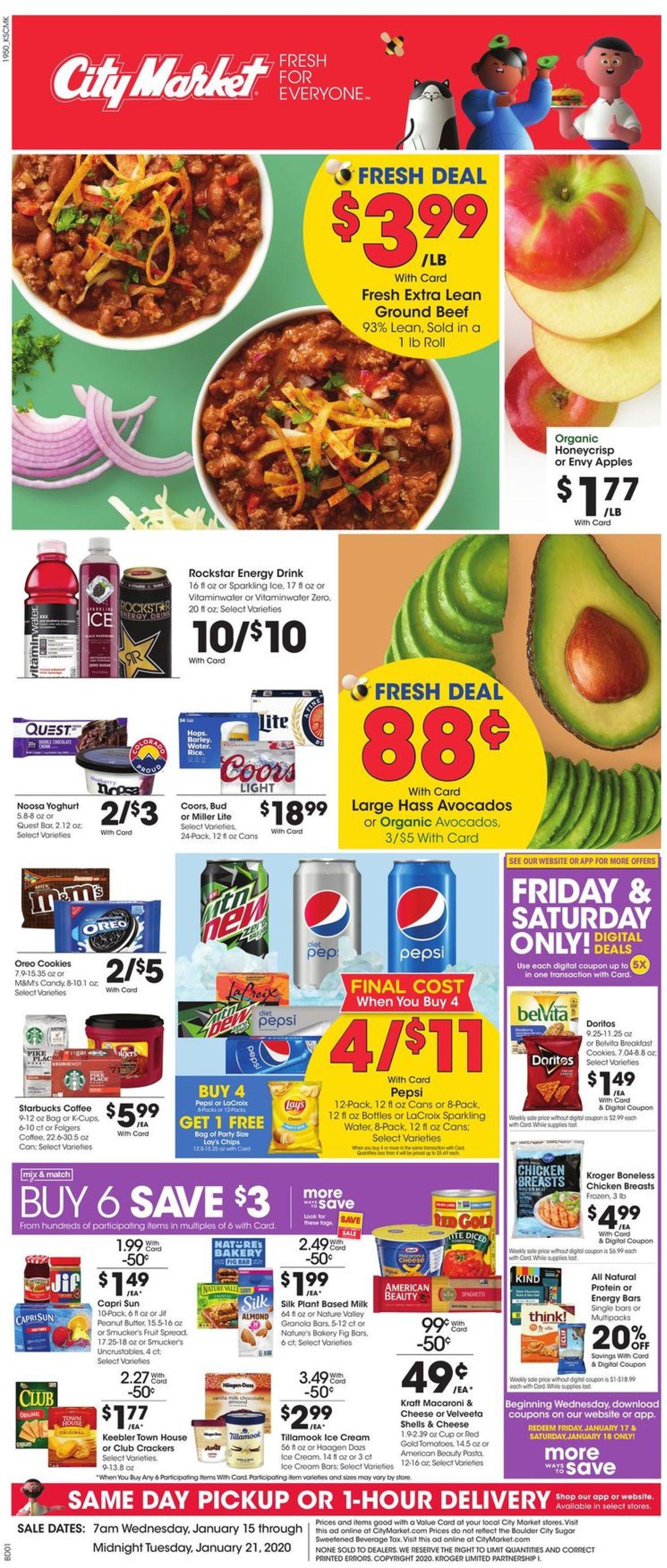Catalogue City Market from 01/15/2020