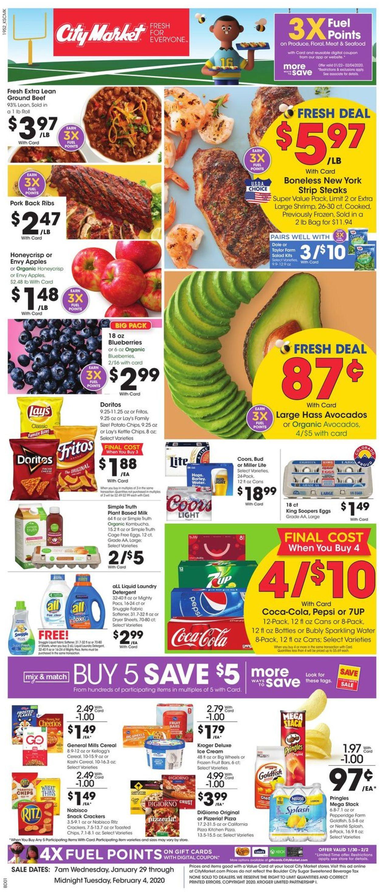 Catalogue City Market from 01/29/2020