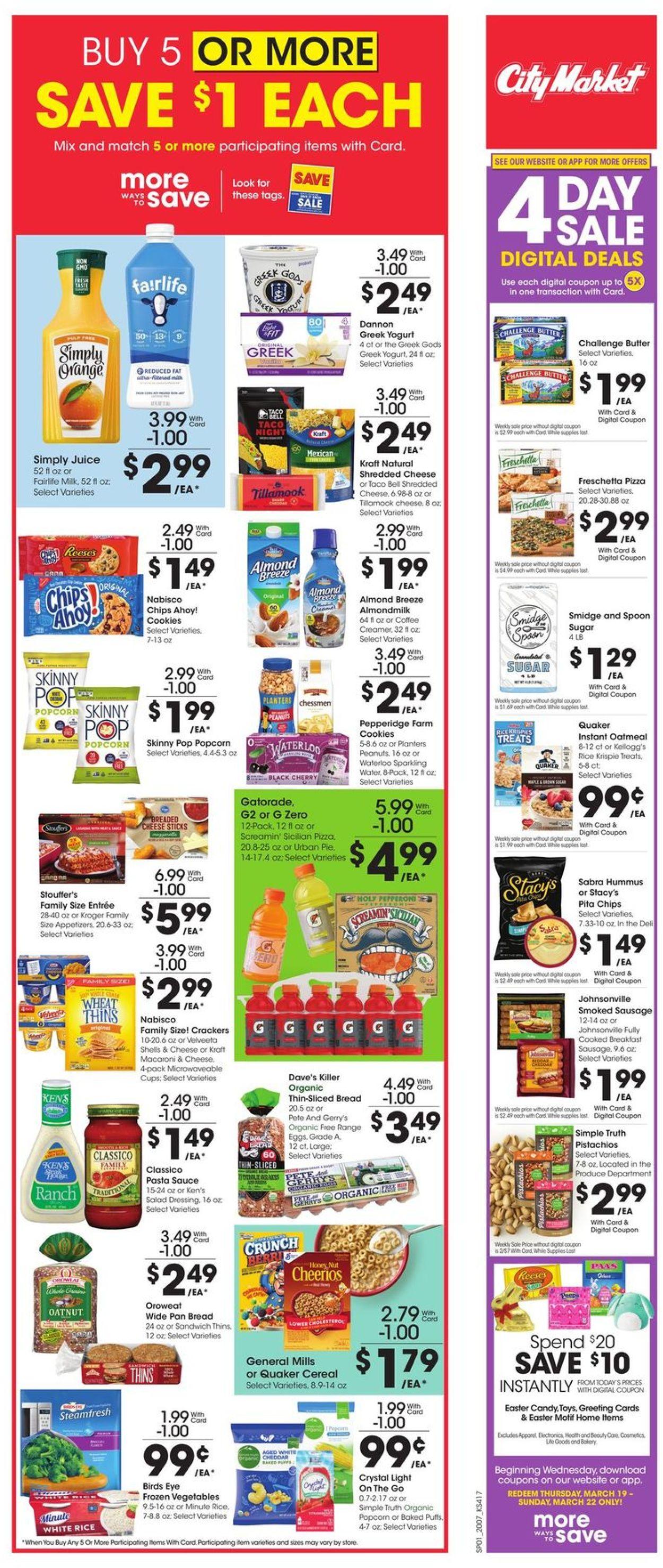 Catalogue City Market from 03/18/2020