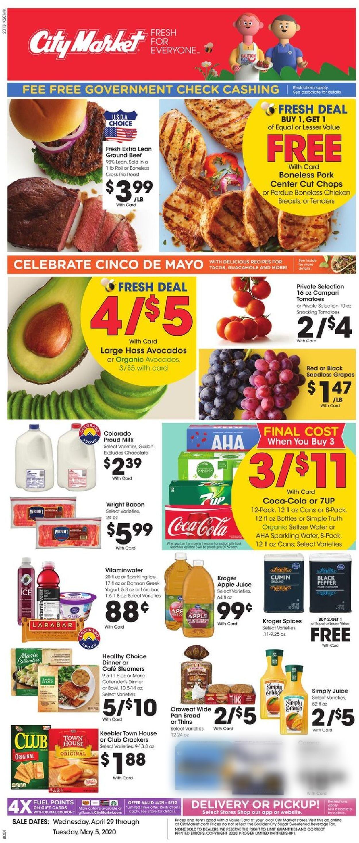Catalogue City Market from 04/29/2020