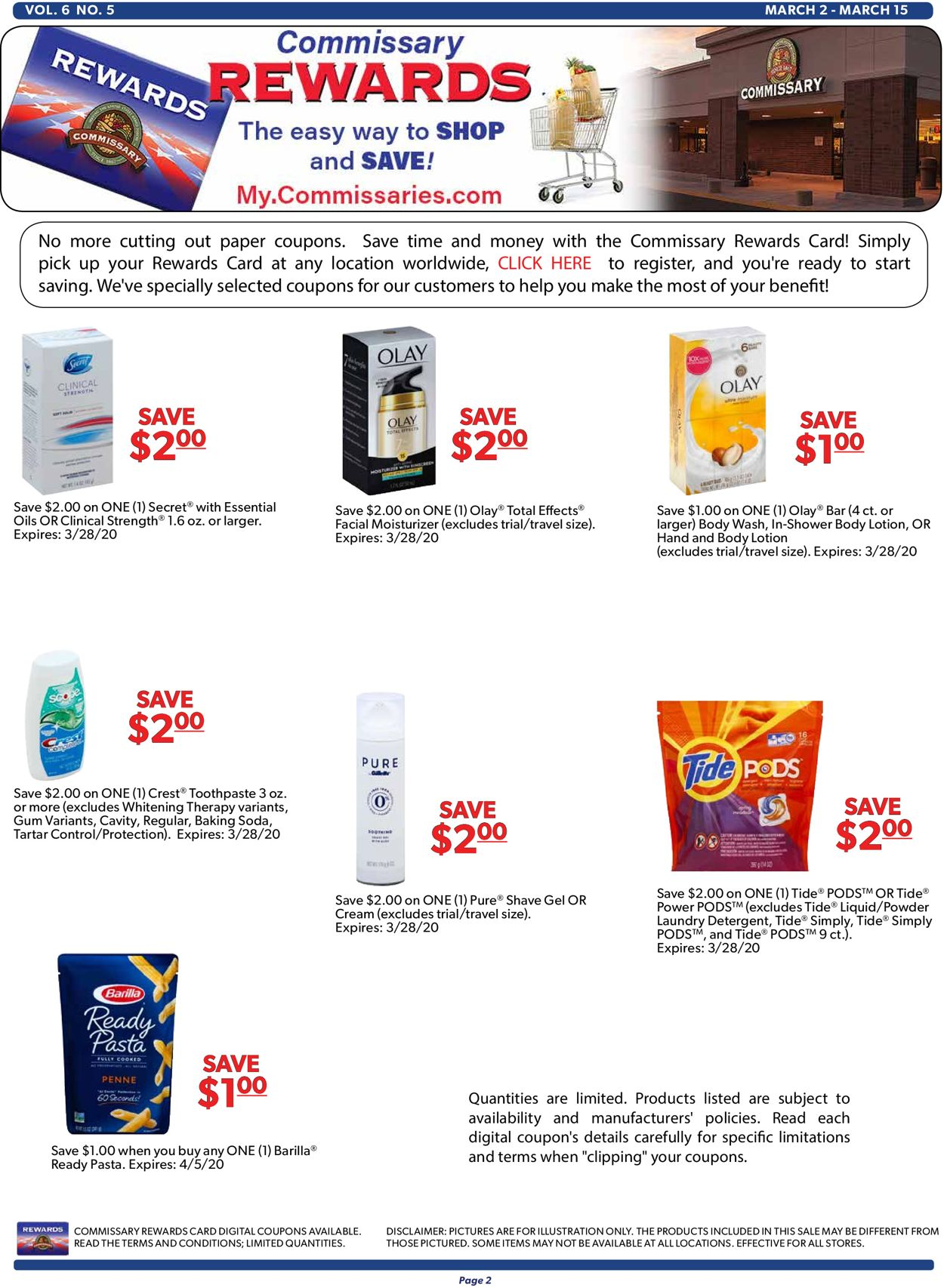 Catalogue Commissary from 03/02/2020