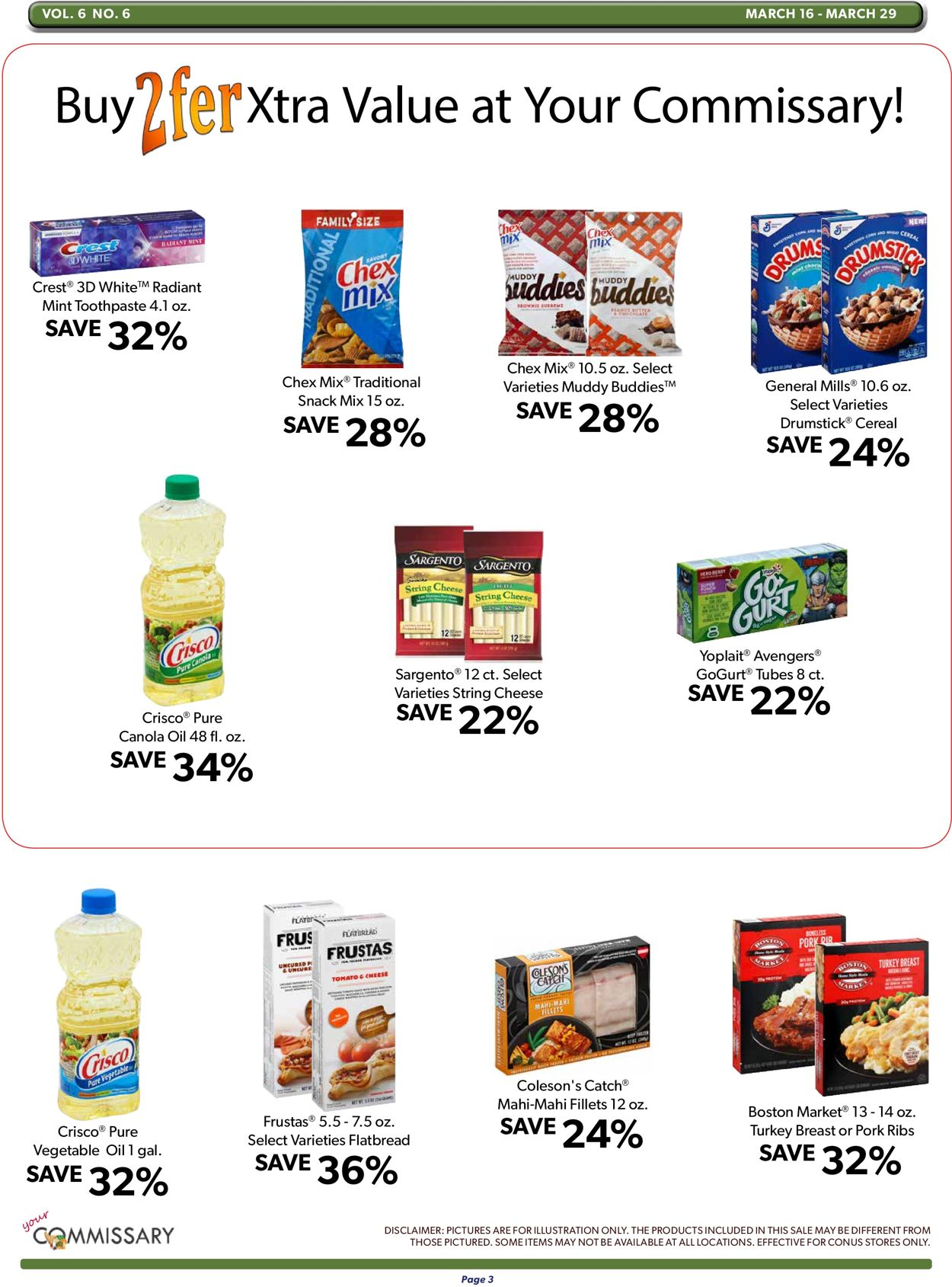 Catalogue Commissary from 03/16/2020