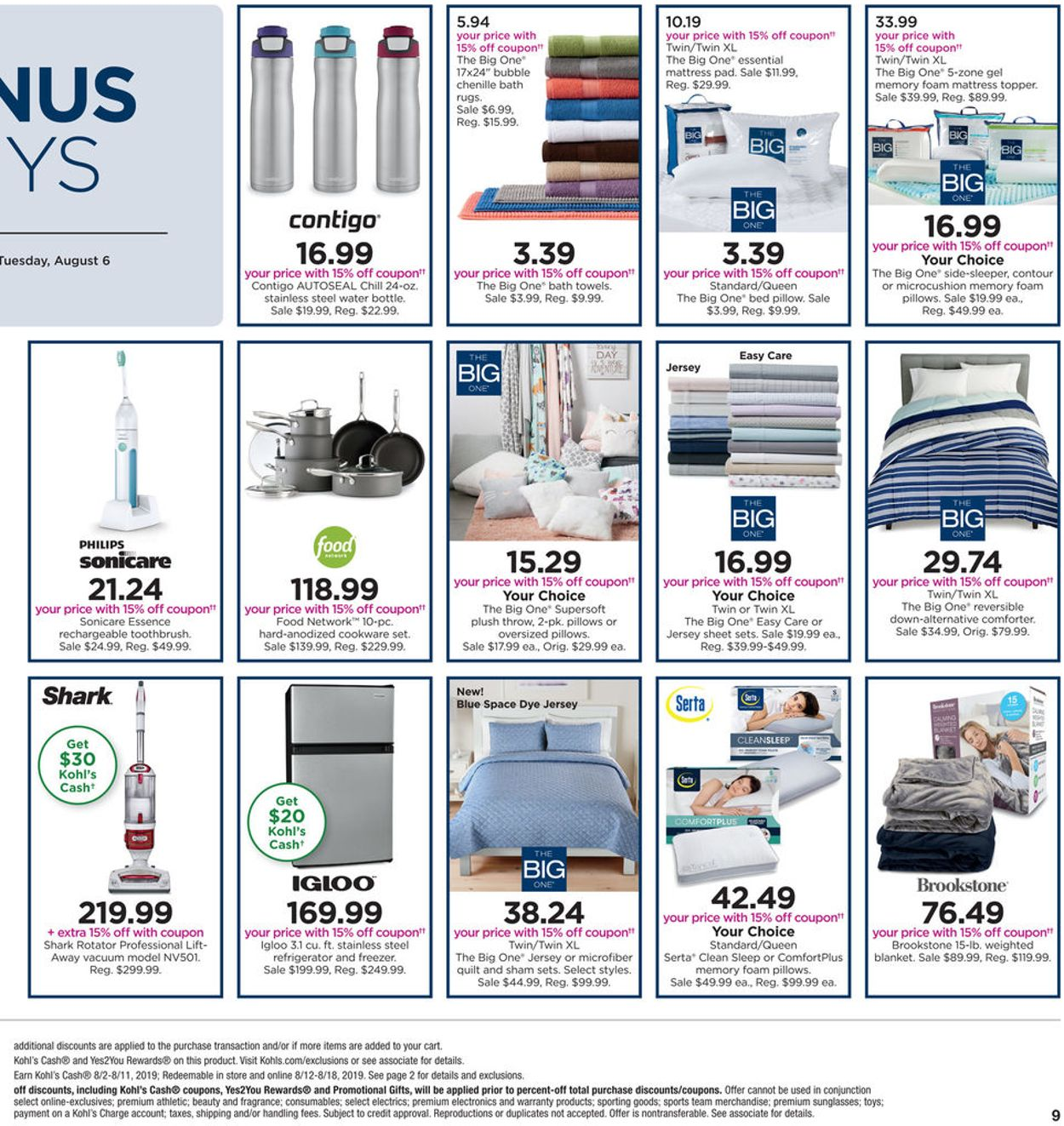 Kohl S Current Weekly Ad 08 04 08 11 2019 9 Weekly