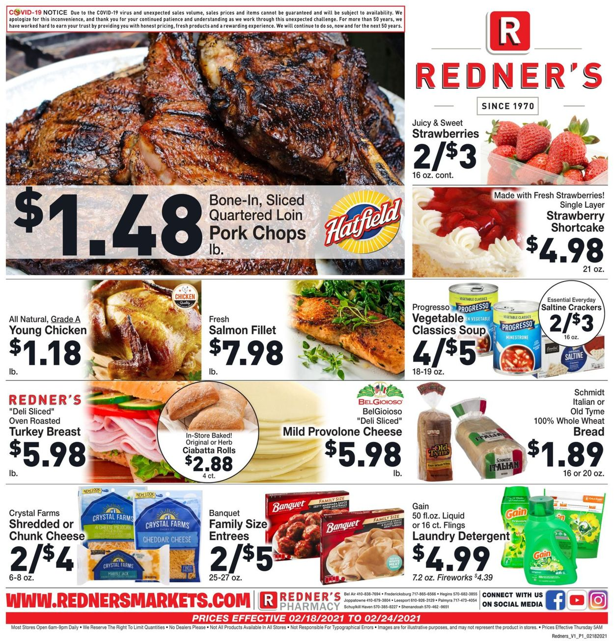 Catalogue Redner's Warehouse Market from 02/18/2021