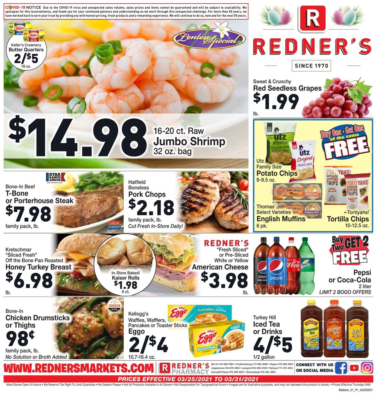 Catalogue Redner's Warehouse Market from 03/25/2021